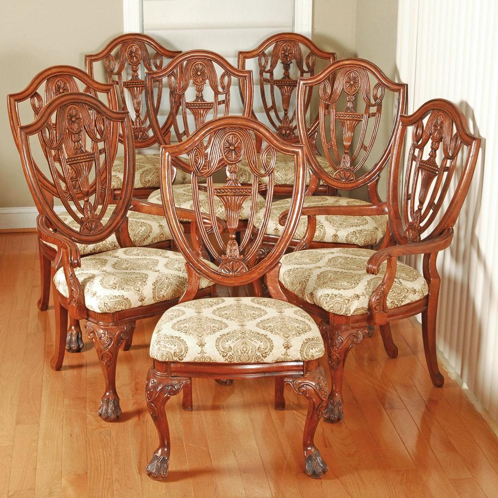 Vintage Hepplewhite Style Mahogany Dining Chairs