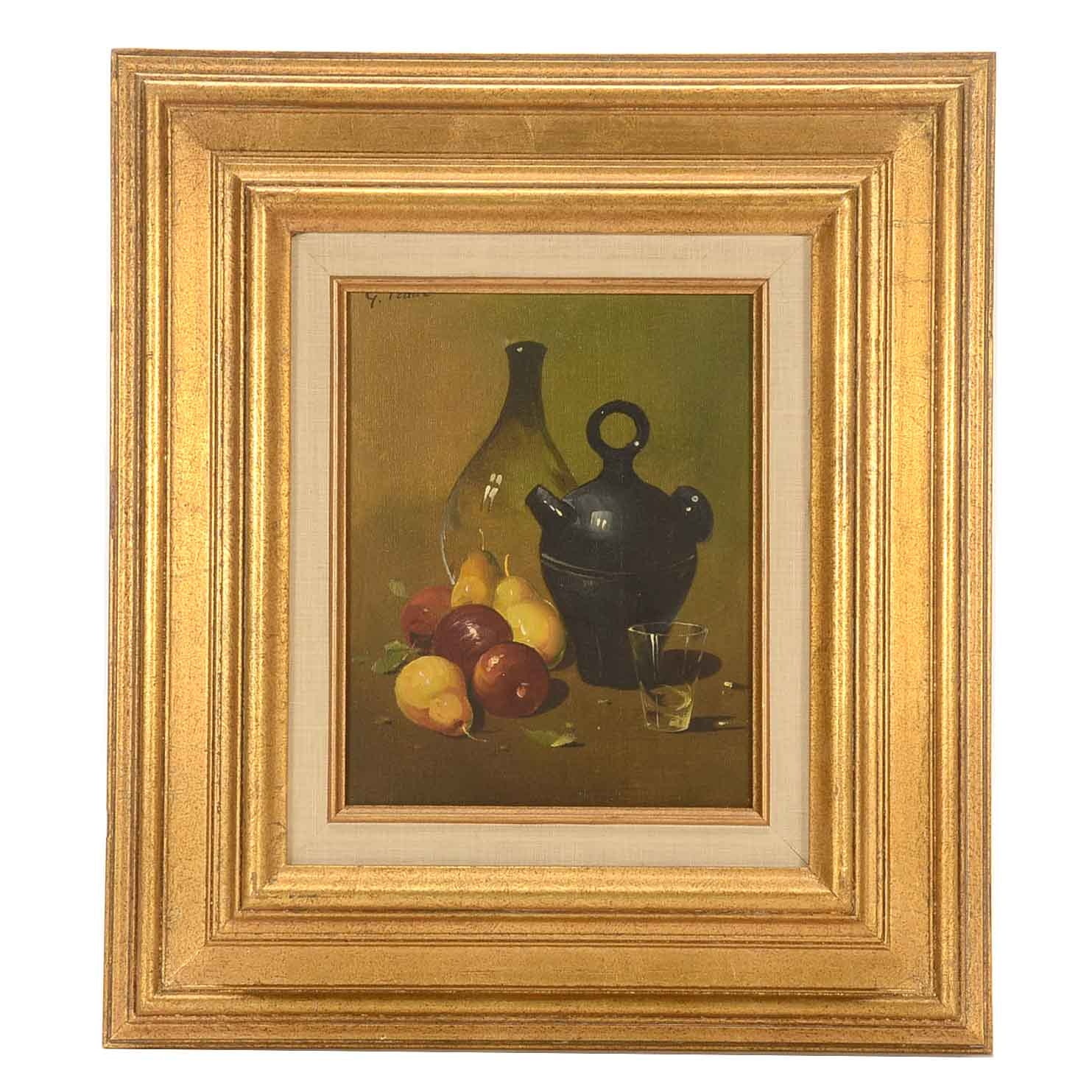 Signed Oil on Canvas Still Life Painting