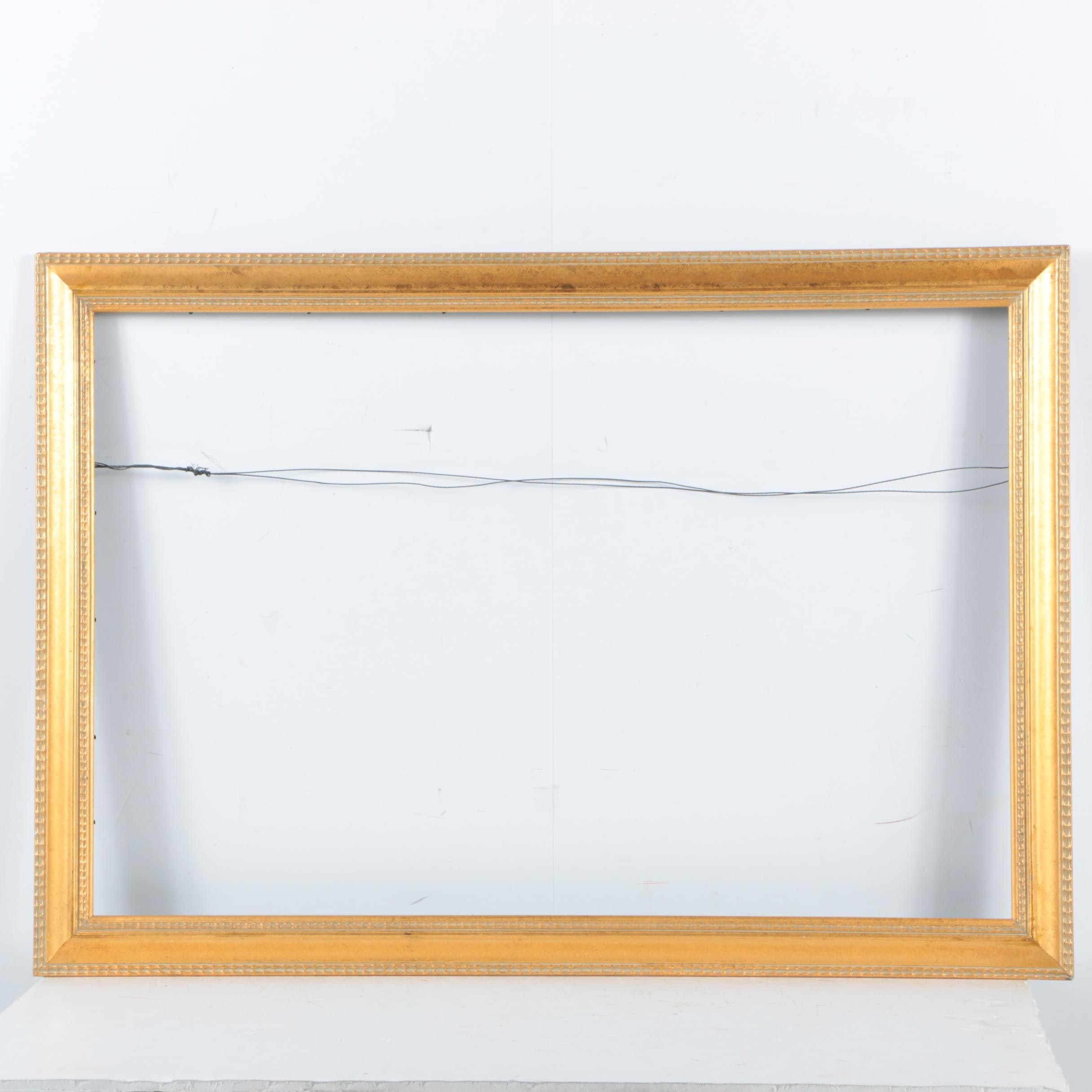 Gesso Painted Wooden Frame