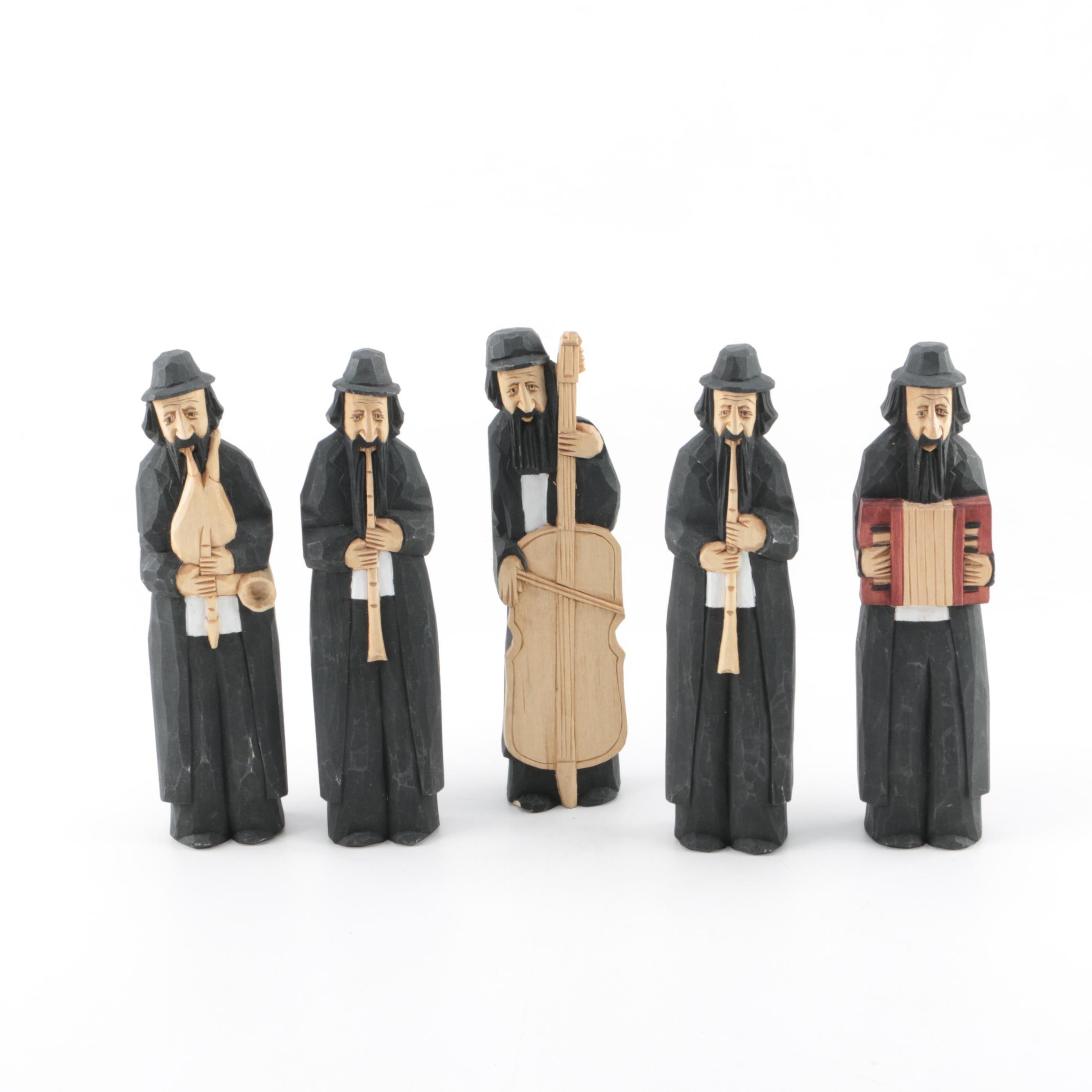 Carved Wooden Klezmer Musicians