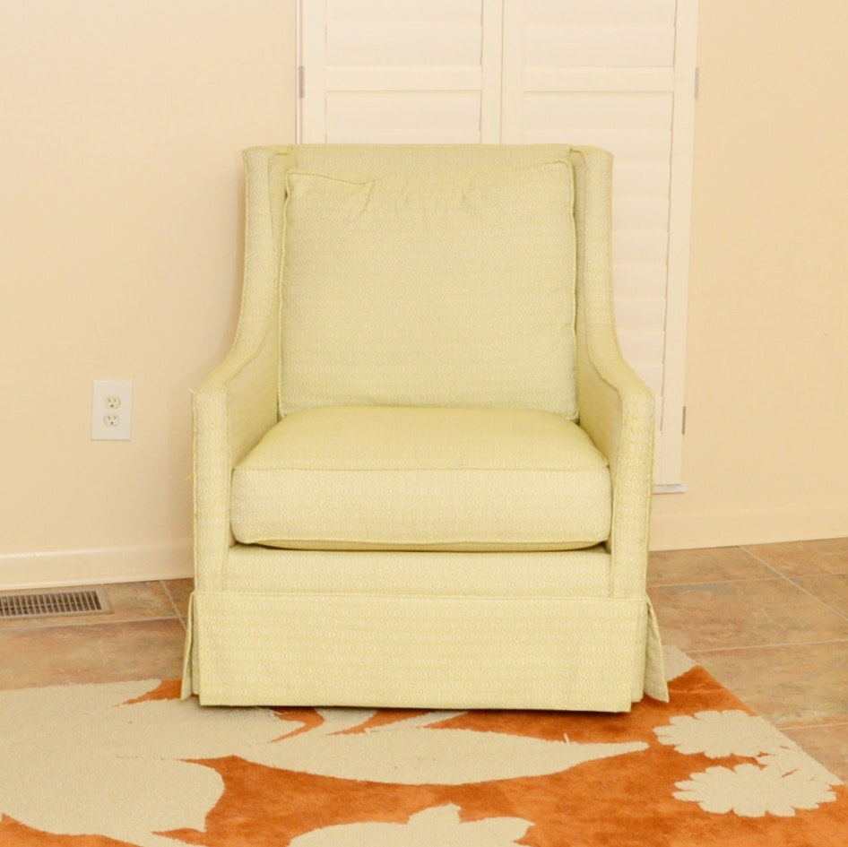 Custom Upholstered Mid Century Modern Style Occasional Chair