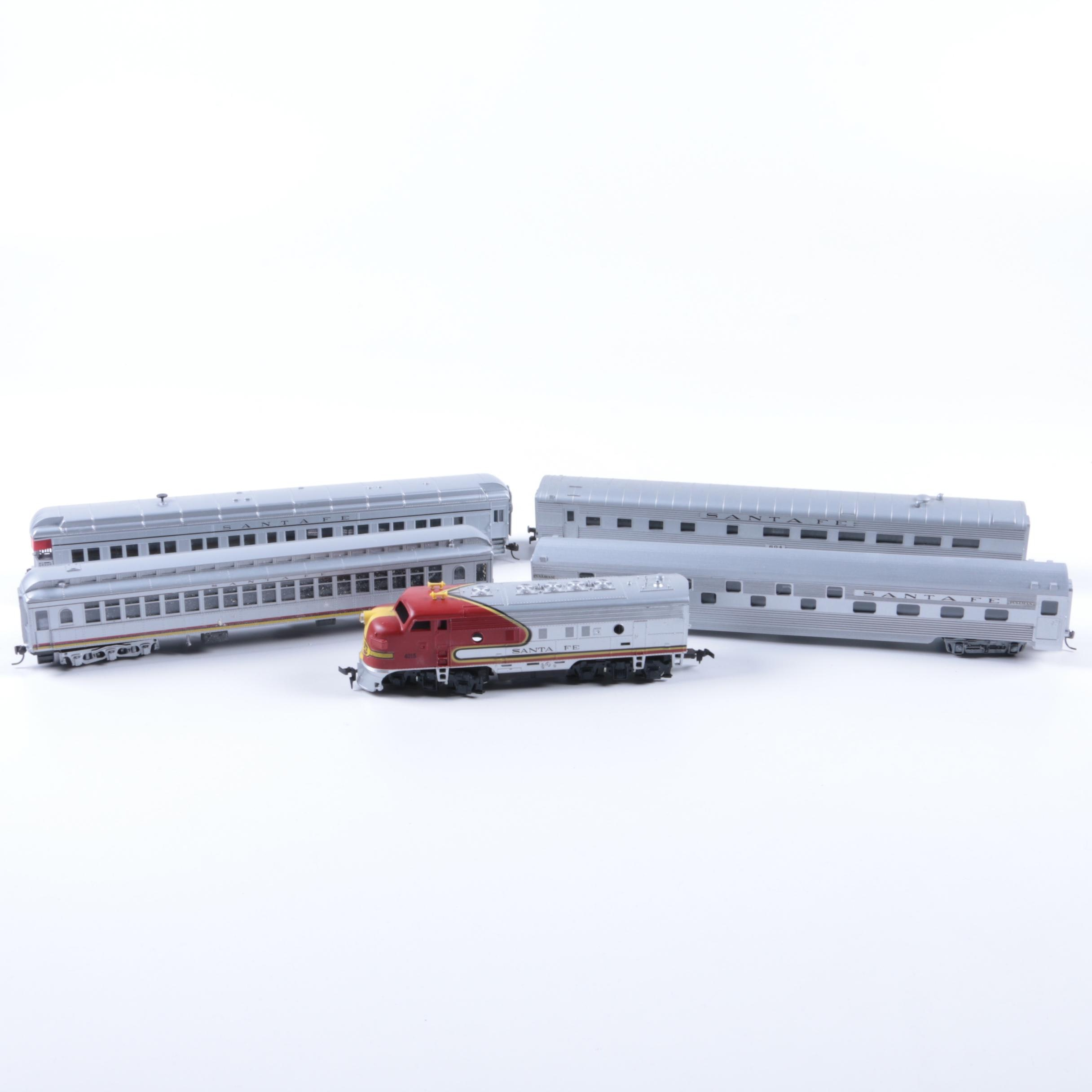 Assortment of Santa Fe Train Line Passenger Cars