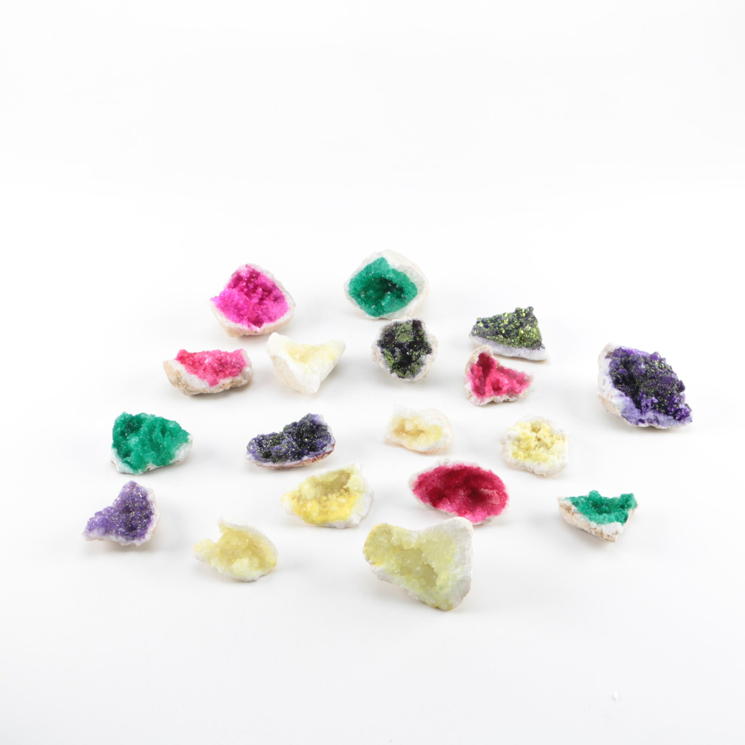 Dyed Quartz Crystal Clusters
