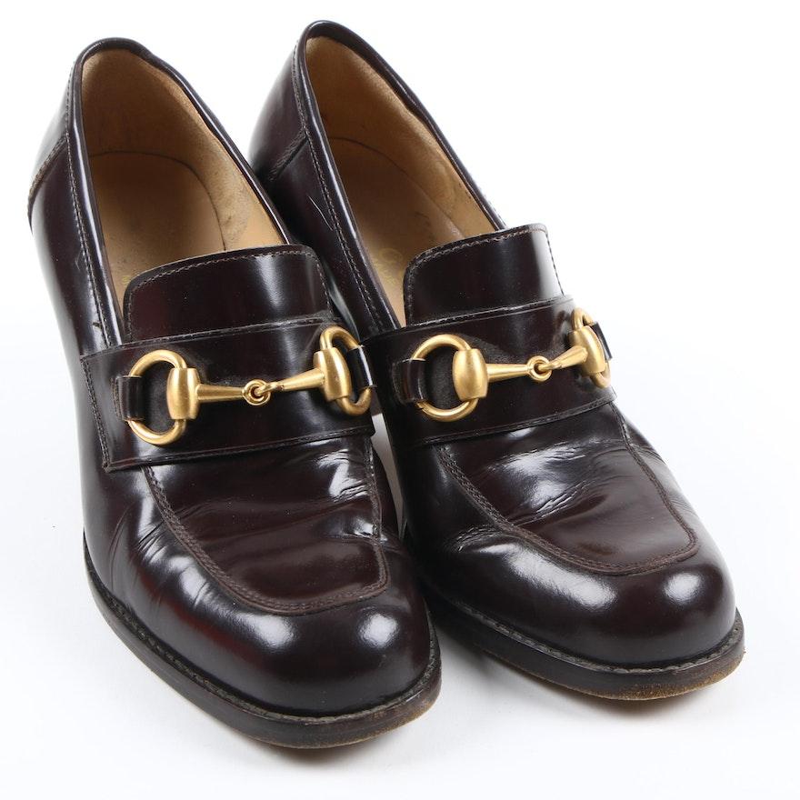 4806fd21a Gucci Leather Horsebit Loafers : EBTH