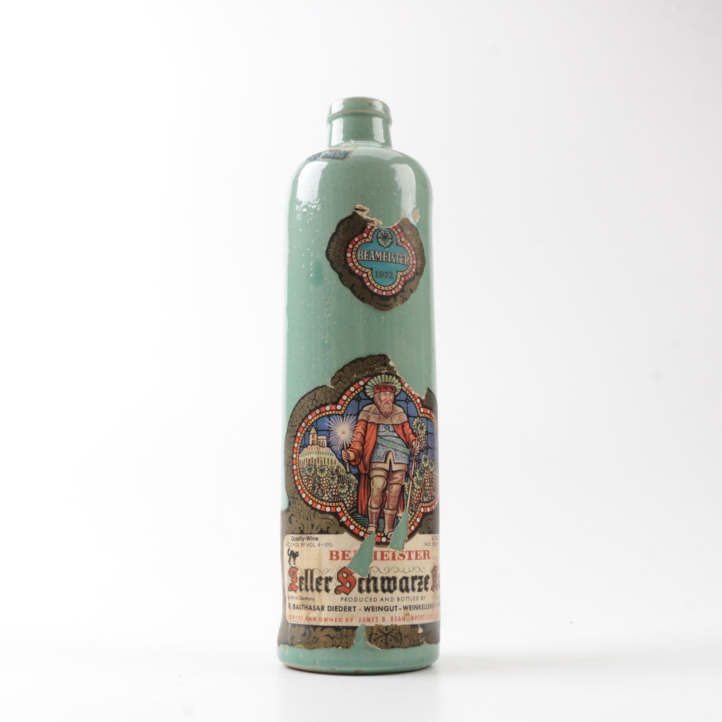 1972 Beameister Zeller Schwarze Katz Stoneware Bottle