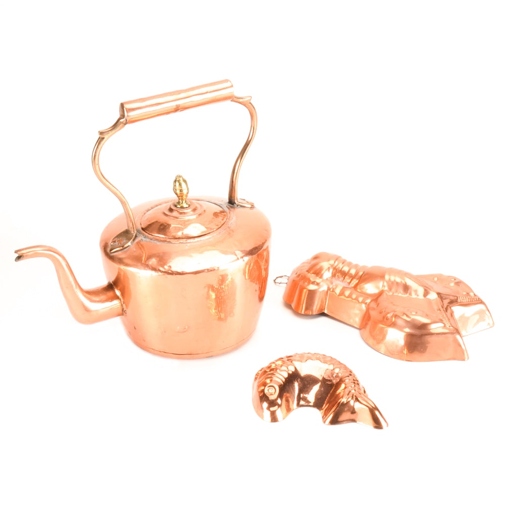 Copper Tea Kettle and Molds
