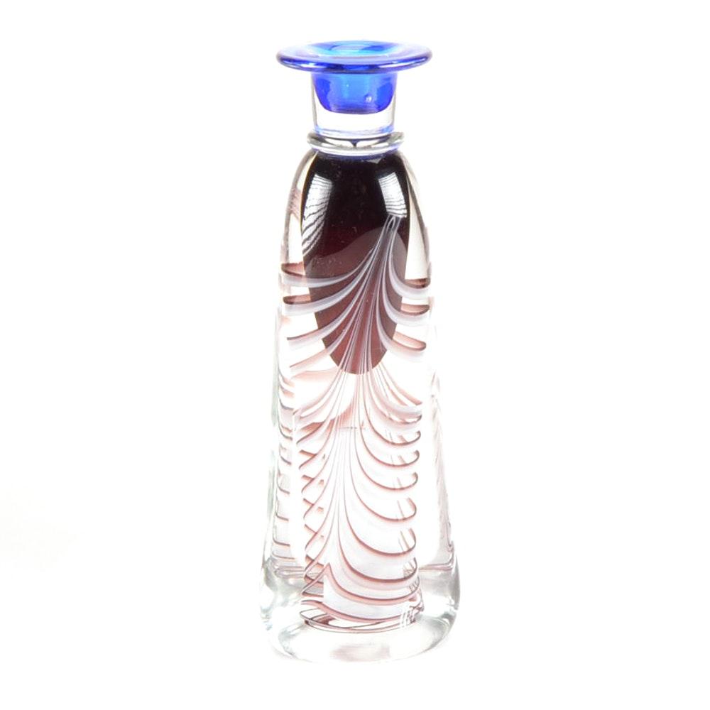 Adam Jablonski Art Glass Candlestick