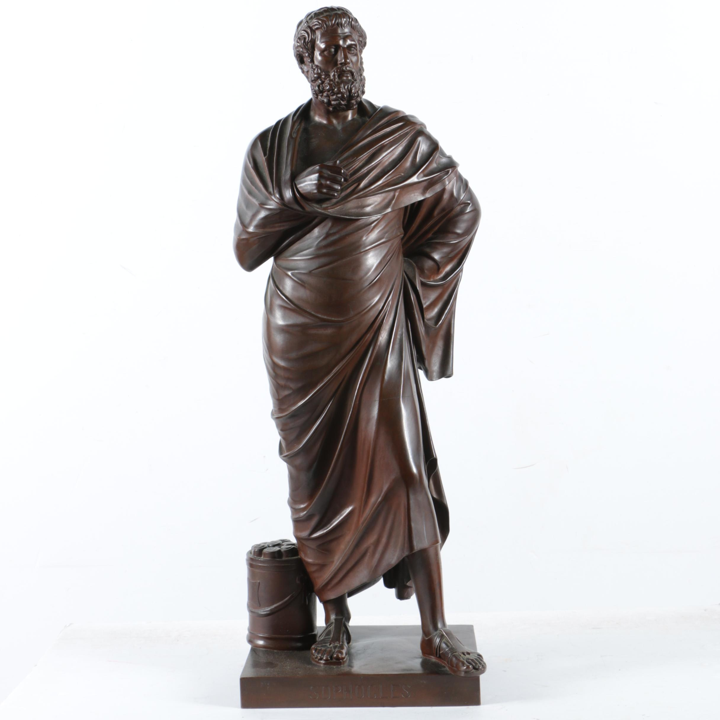 Barbedienne Foundry Bronze of Sophocles