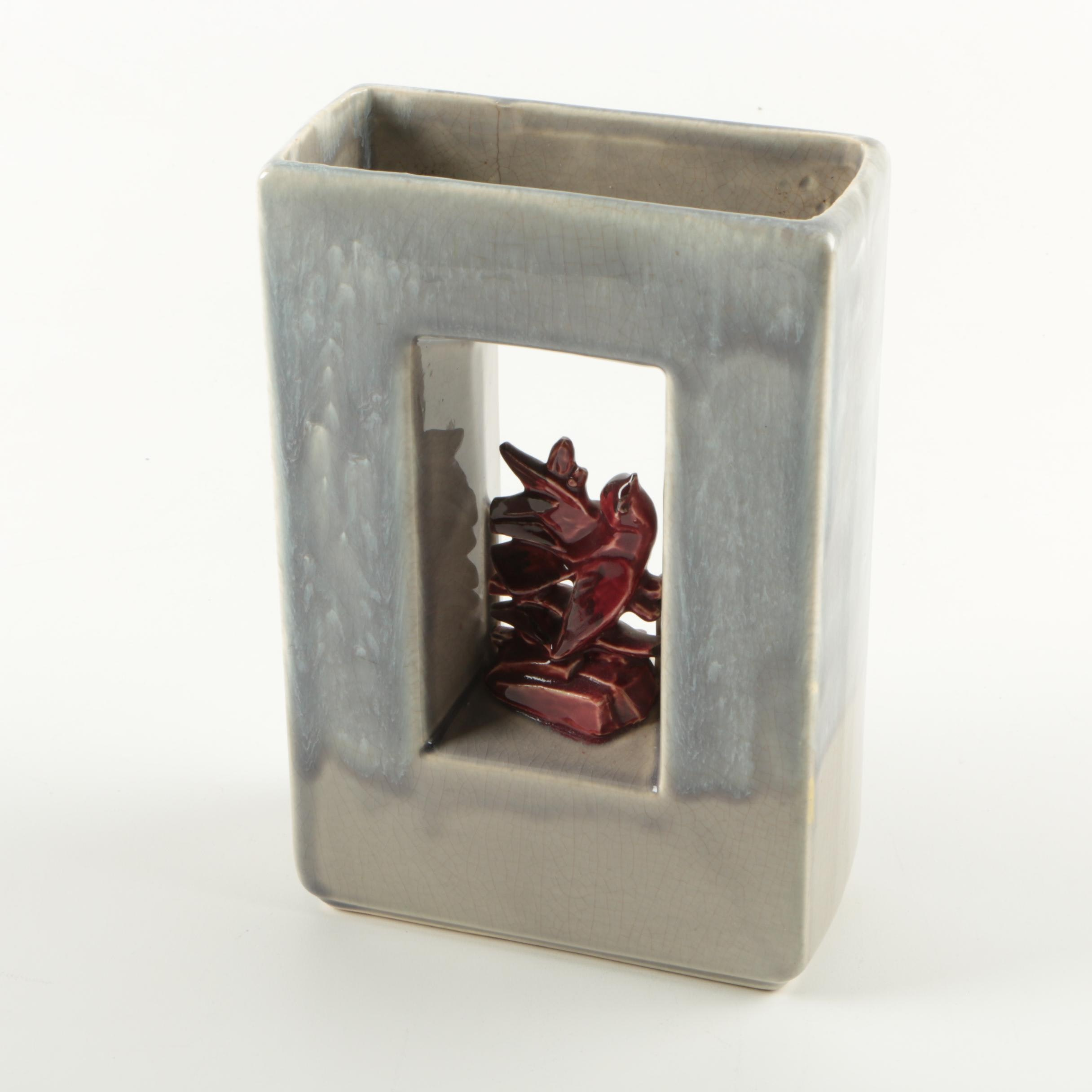 """McCoy """"Arcature"""" Cardinal Vase"""
