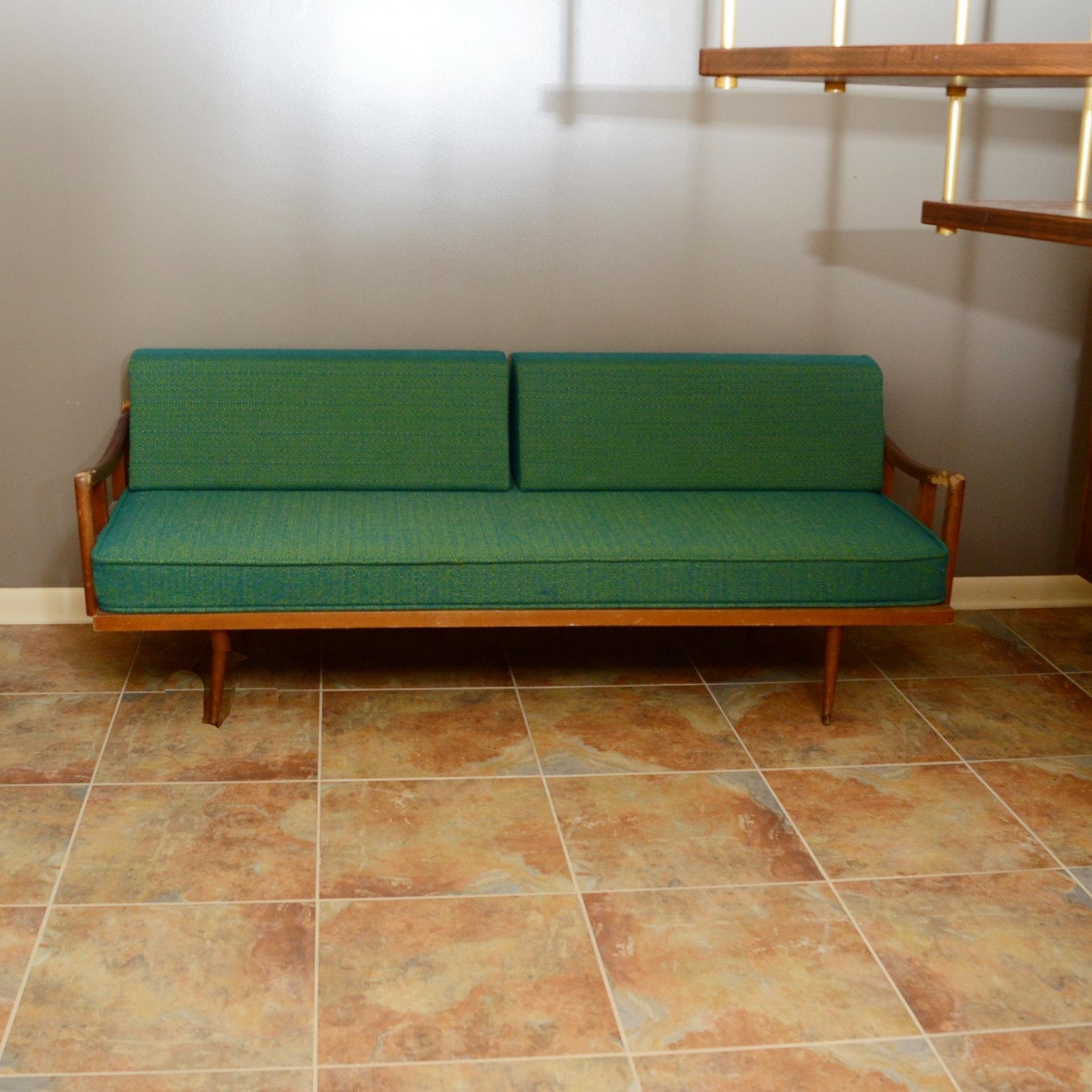 Danish Modern Daybed/ Sofa with Walnut Frame