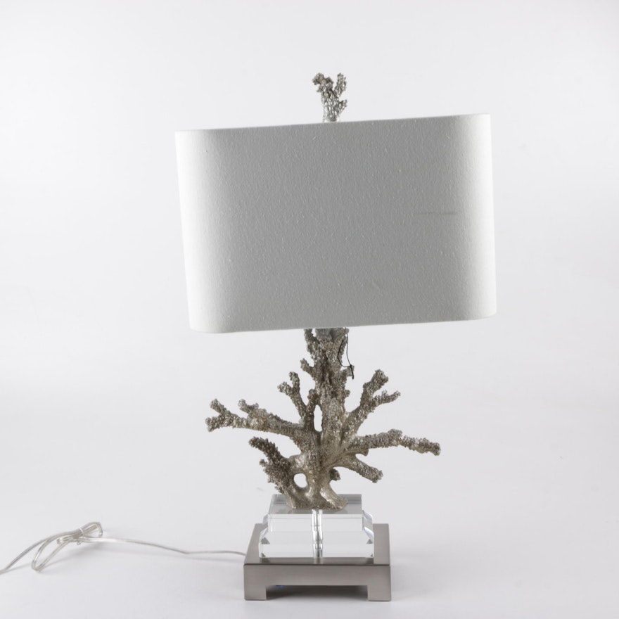Faux coral table lamp ebth faux coral table lamp aloadofball Images