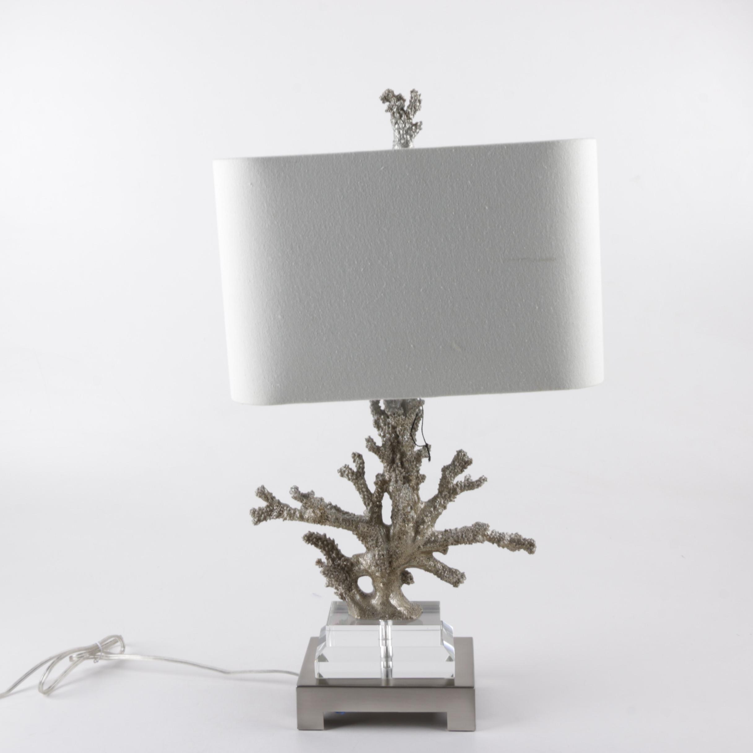 Faux Coral Table Lamp ...
