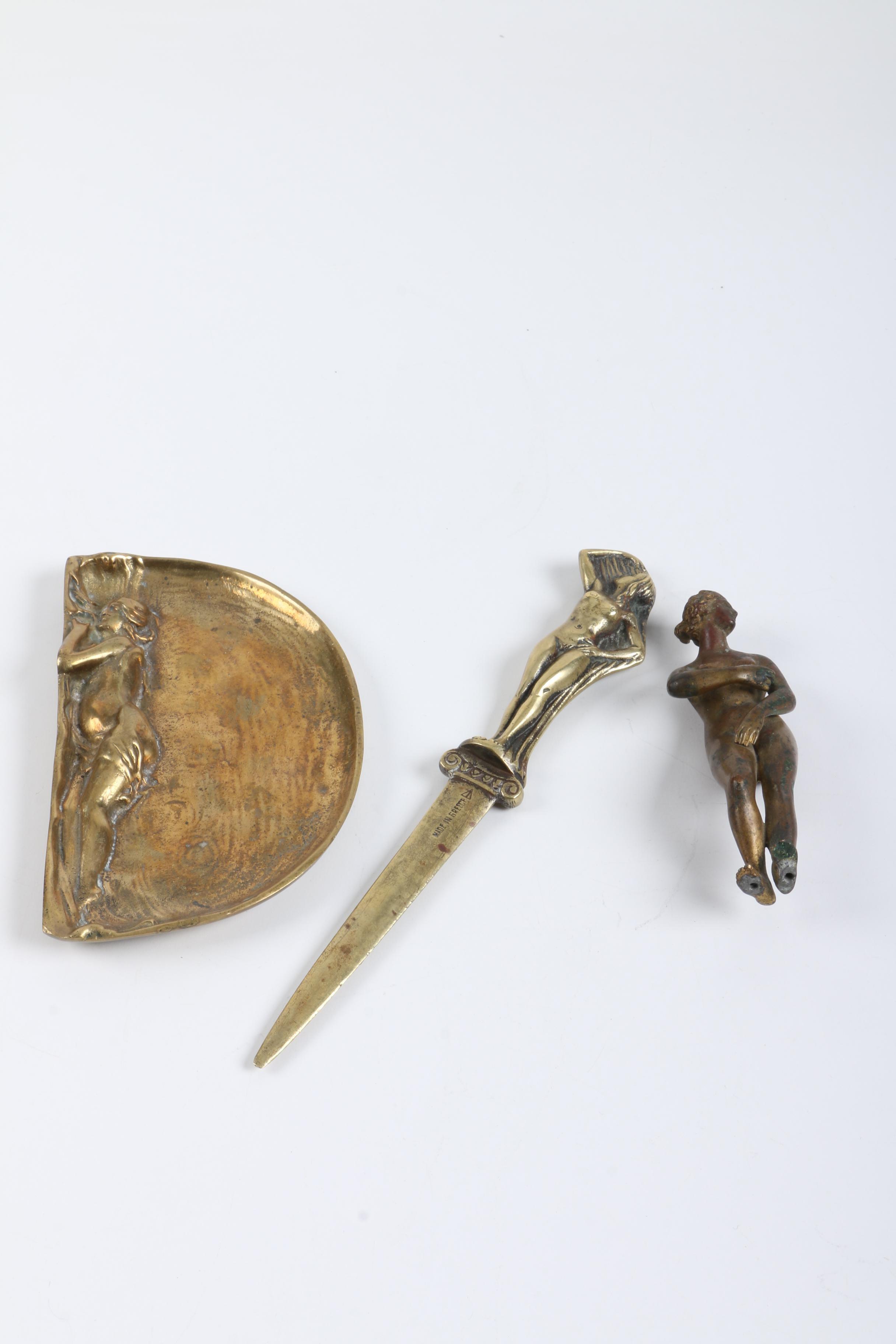 Brass Decor Including Greek Letter Opener