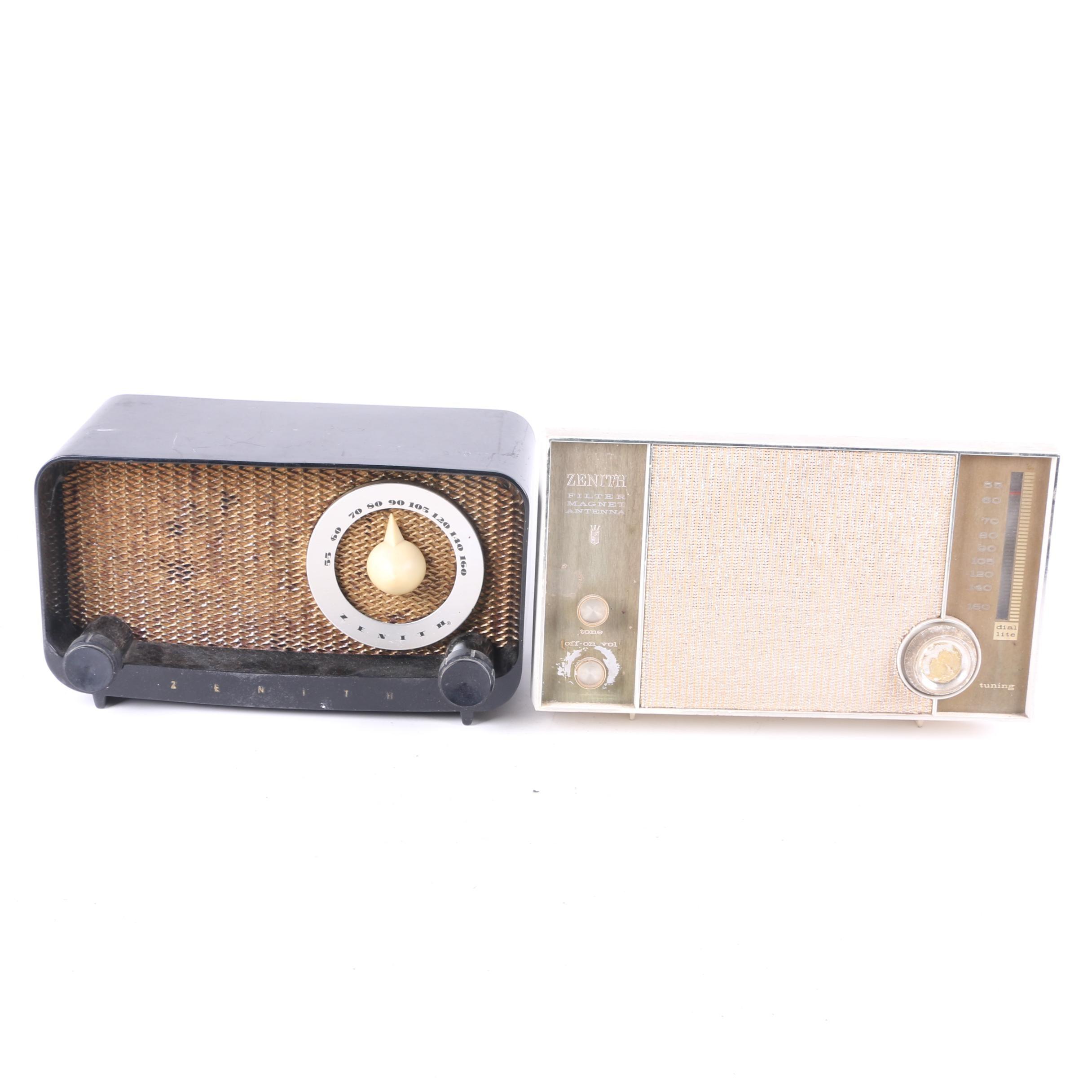 Vintage Zenith Tabletop Radios