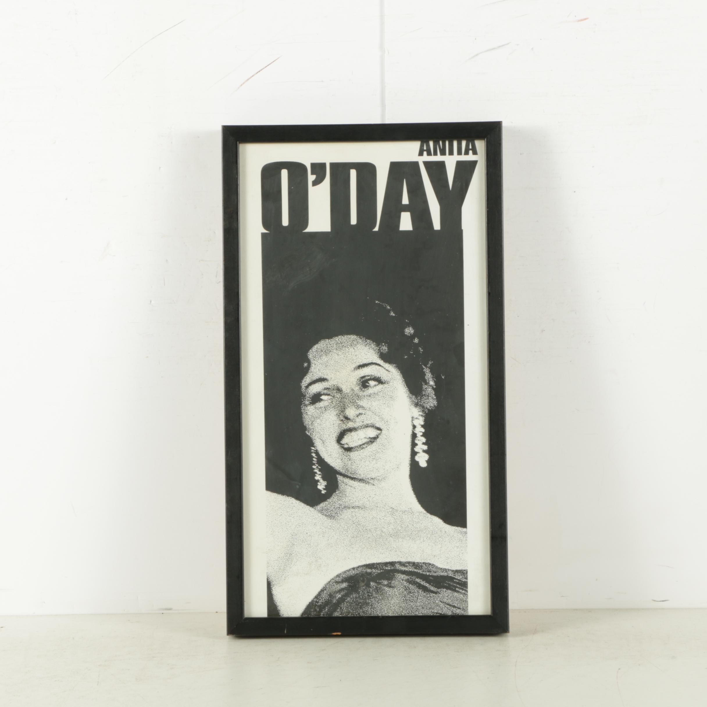 Anita O'Day Serigraph on Paper