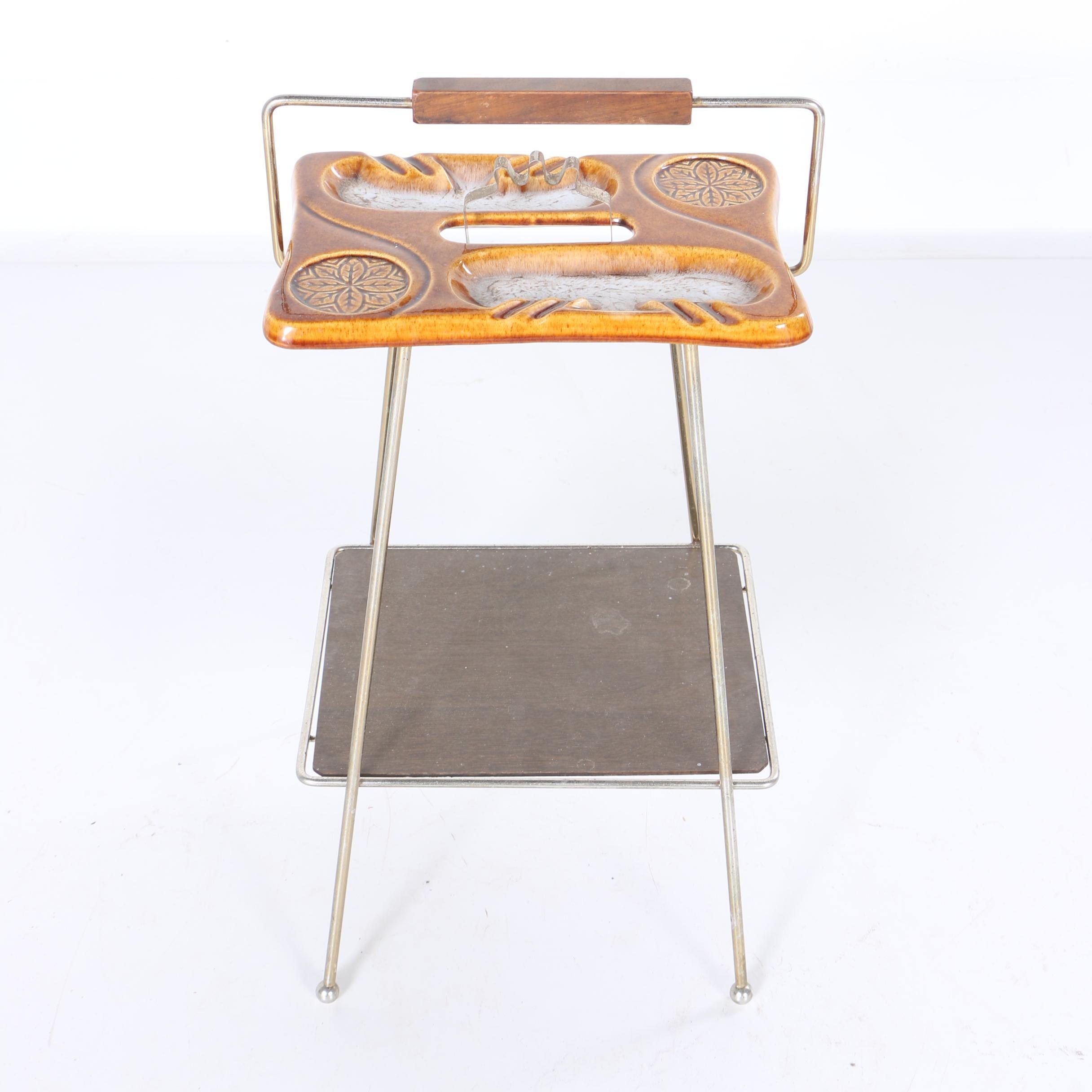 Mid Century Modern Ceramic Ash Receiver Table
