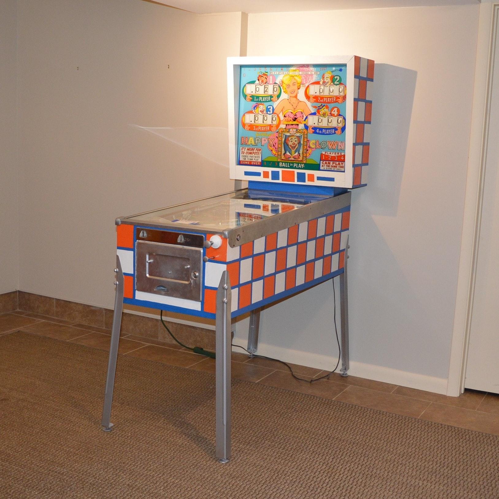 """Original 1964 Gottlieb's """"Happy Clown"""" Pinball Machine"""