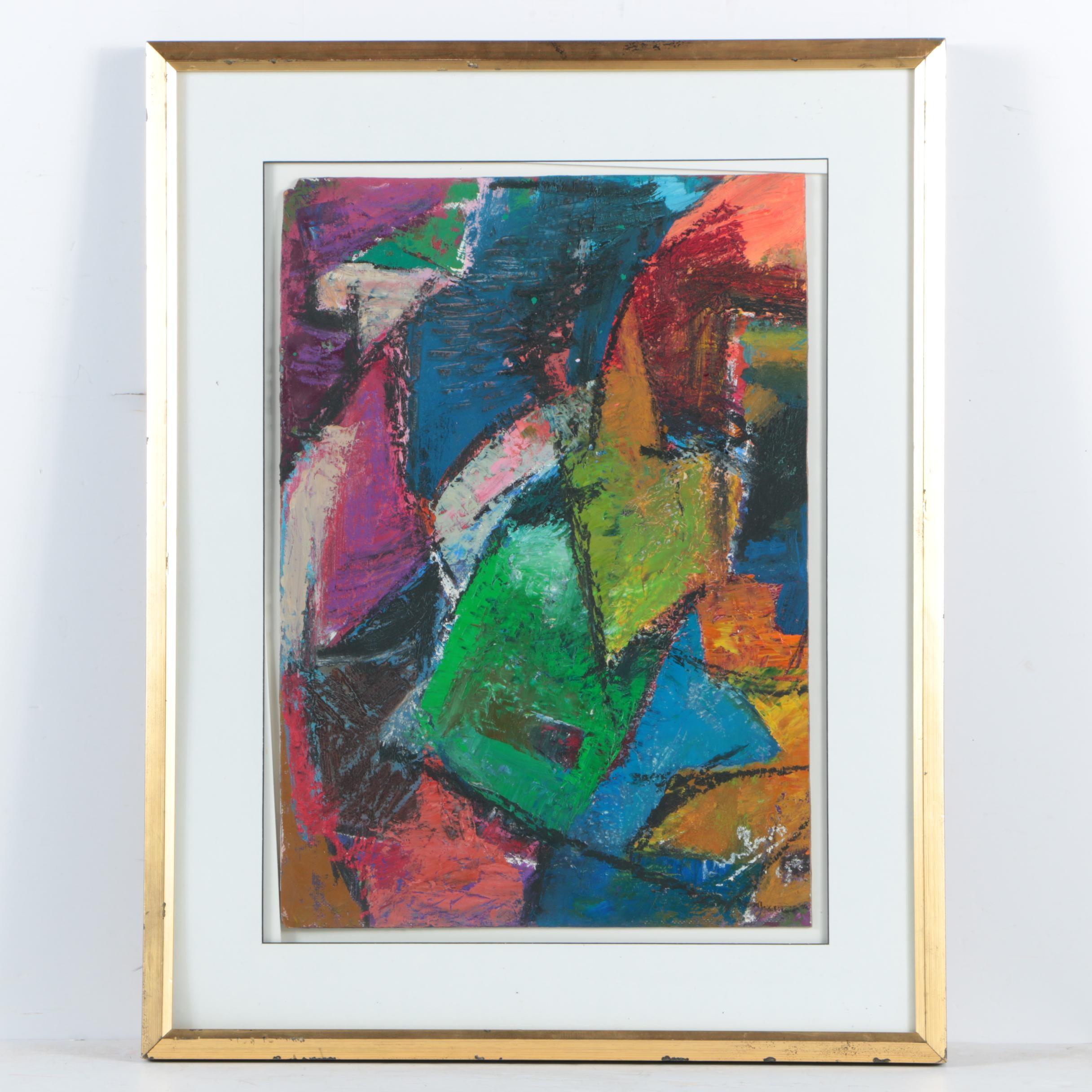 Ephraim Urevbu Acrylic Painting on Canvas Board