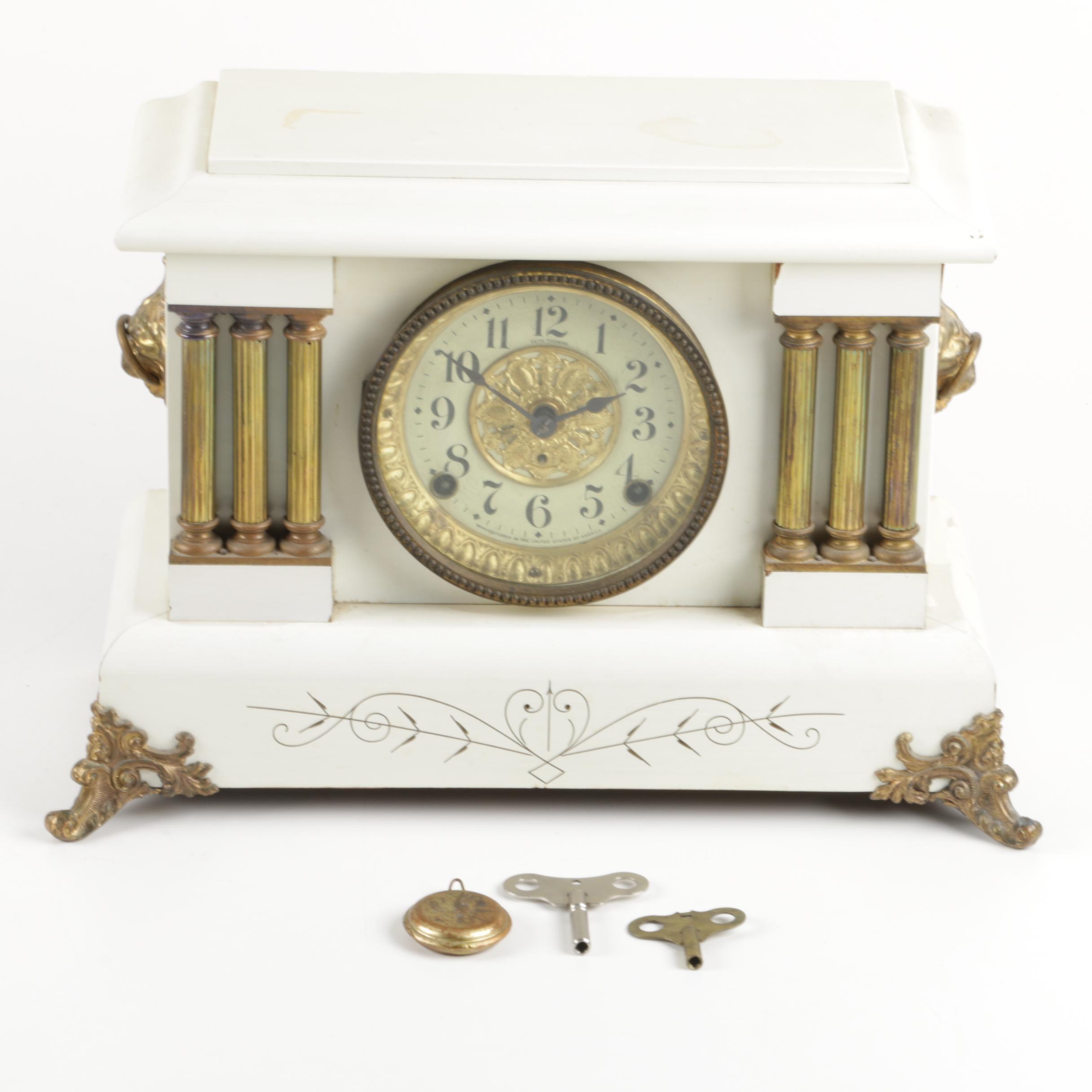 Antique 1880 Seth Thomas Pillar Mantel Clock