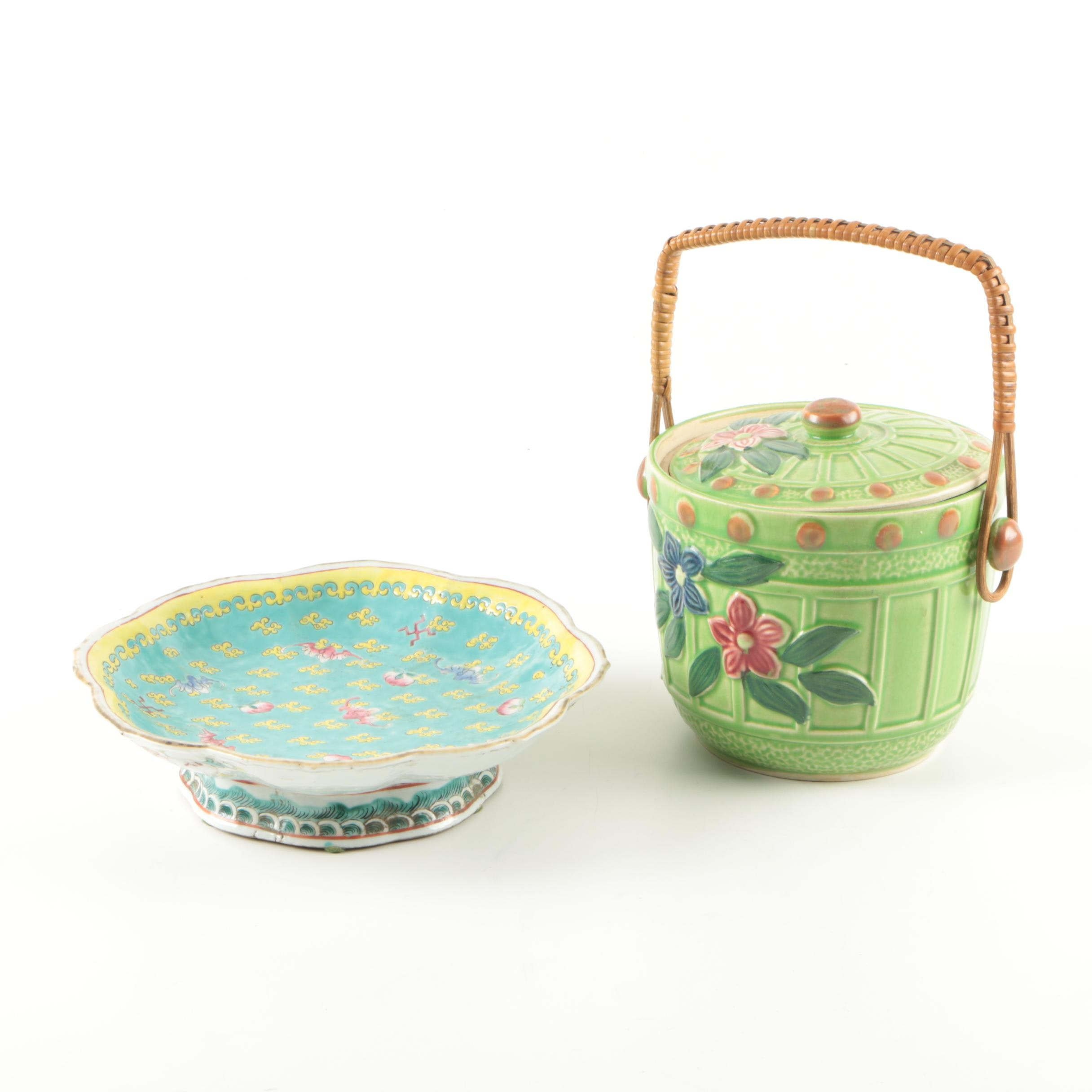 Vintage Chinese Enameled Porcelain Bowl and More