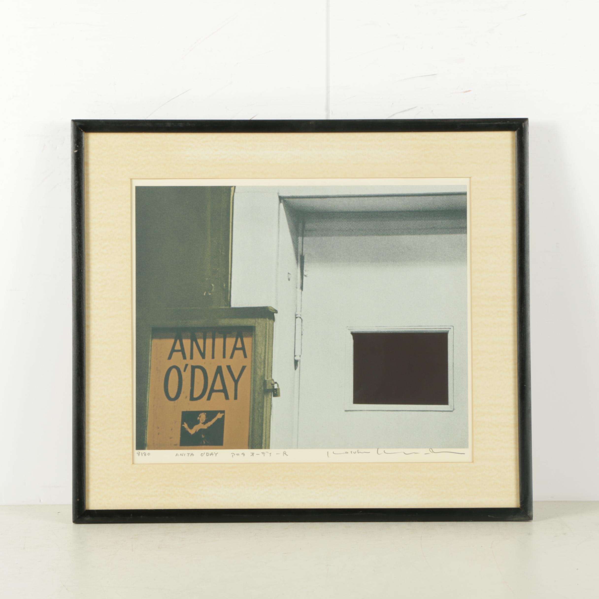 """Signed Serigraph on Paper """"Anita O'Day"""""""