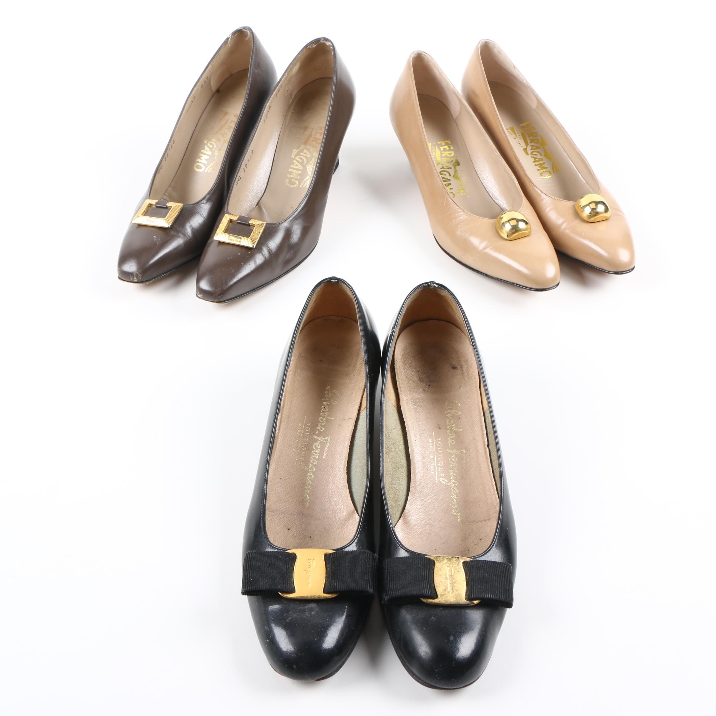 Vintage Salvatore Ferragamo Pump Heels