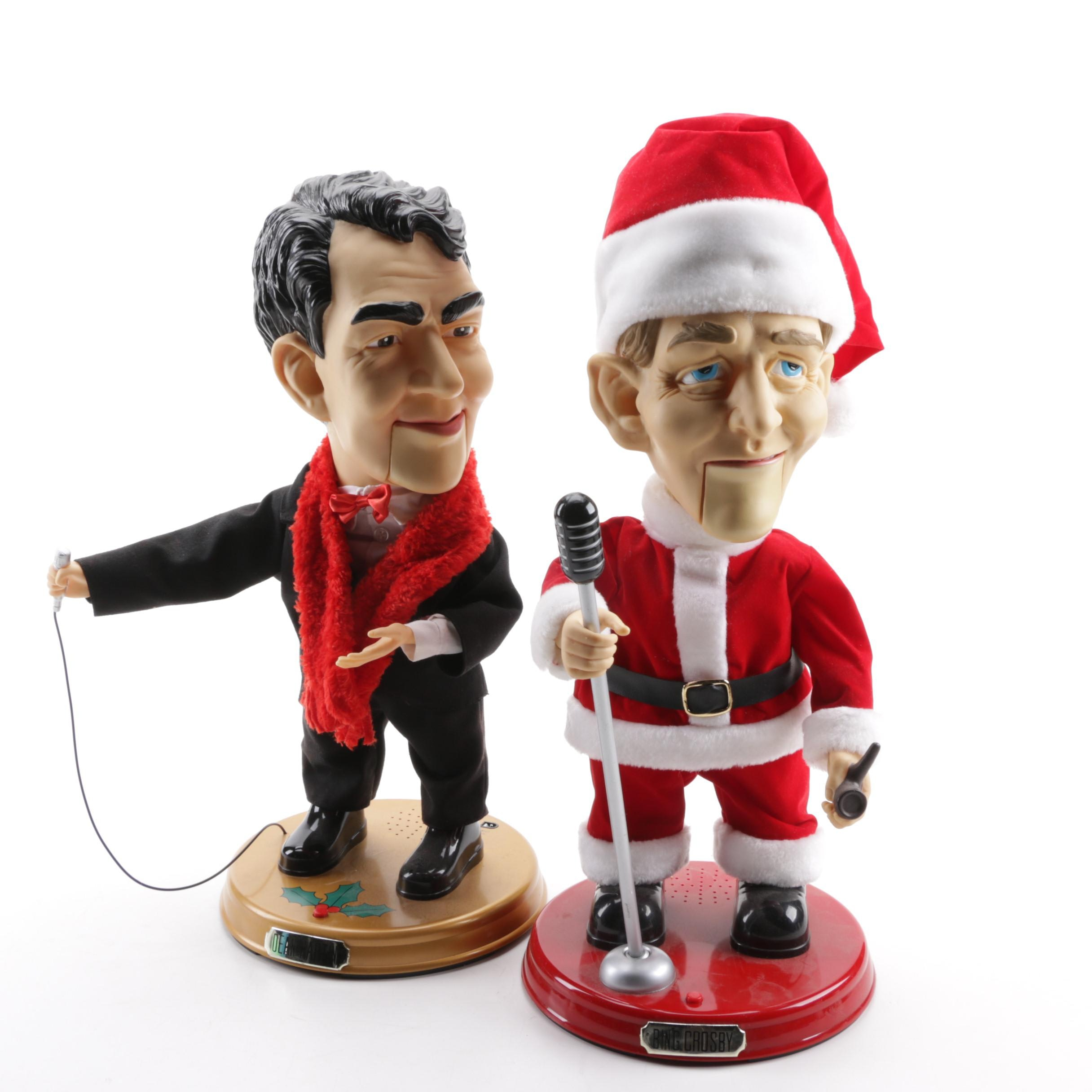Musical Gemmy Pop Culture Bing Crosby And Dean Martin Christmas Figures