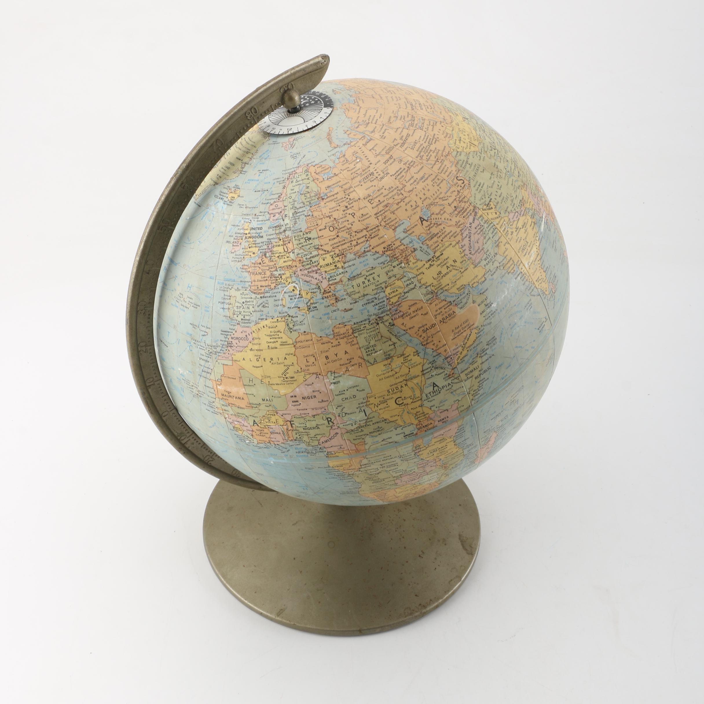 1960s Replogle Comprehensive Globe