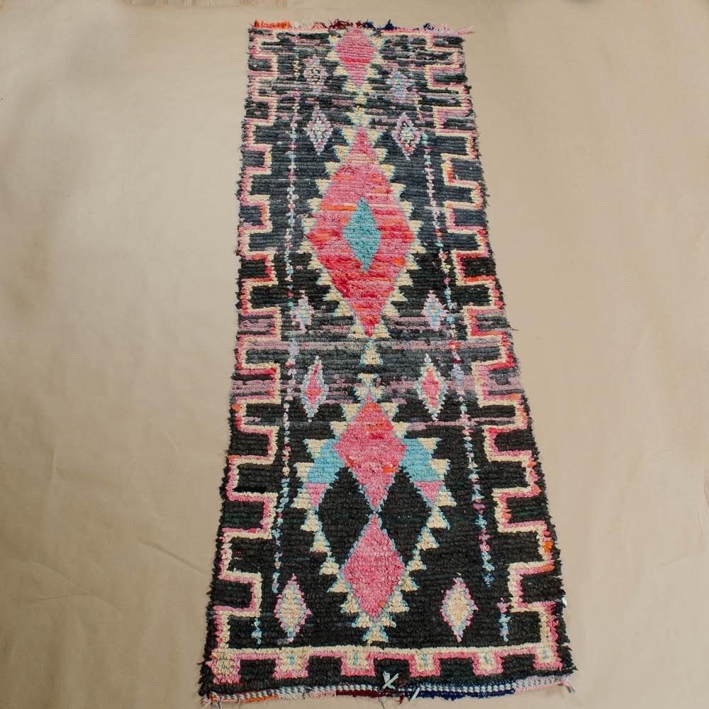 Vintage Hand-Knotted Berber Rag Rug