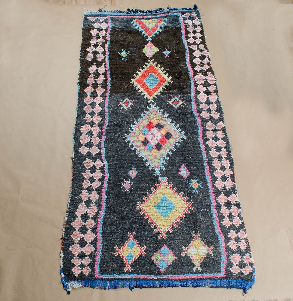Hand-Knotted Berber Rag Rug