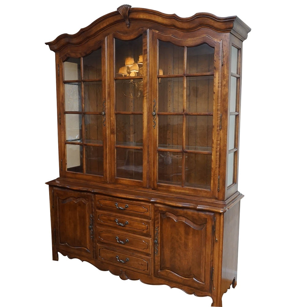 French Provincial Style China Cabinet by Ethan Allen