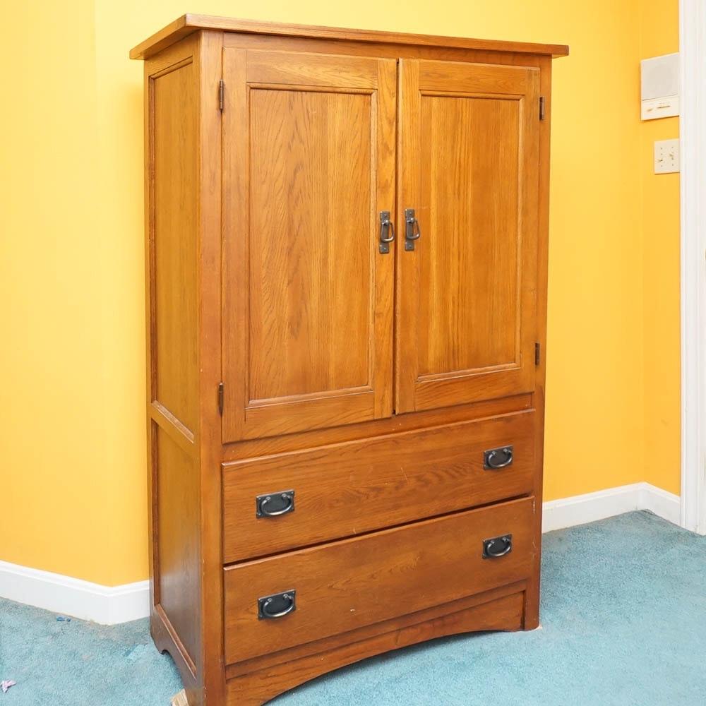 Mission Style Oak Wardrobe