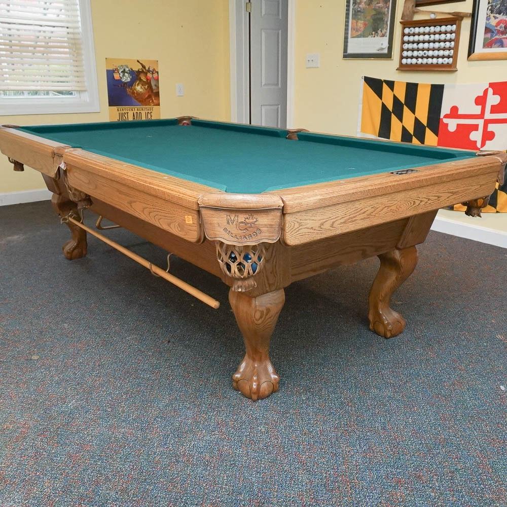 Vintage Maple City Billiards Pool Table