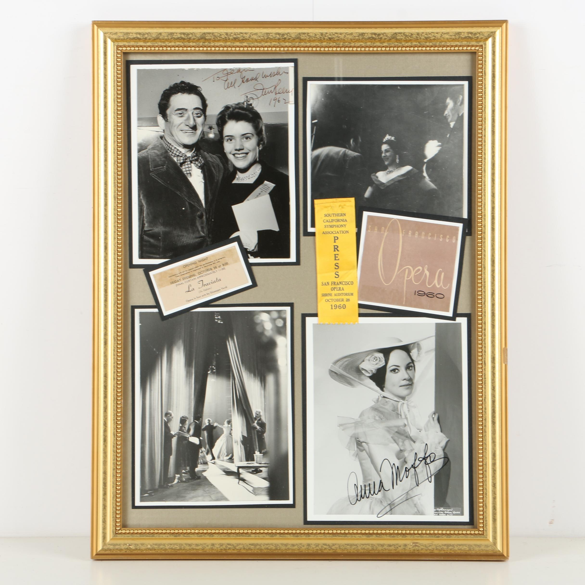 Collection of Black and White Photographs Signed by Opera Stars