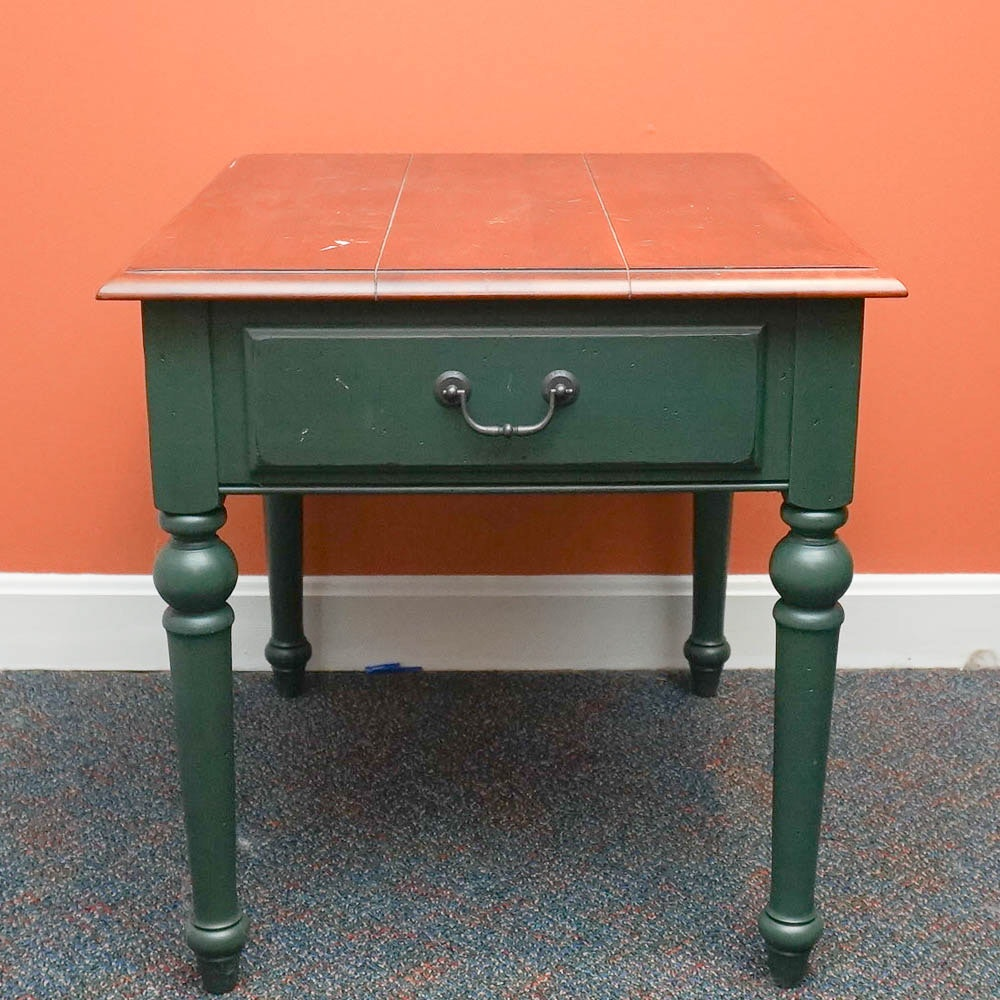 Farmhouse Style Side Table by Ethan Allen