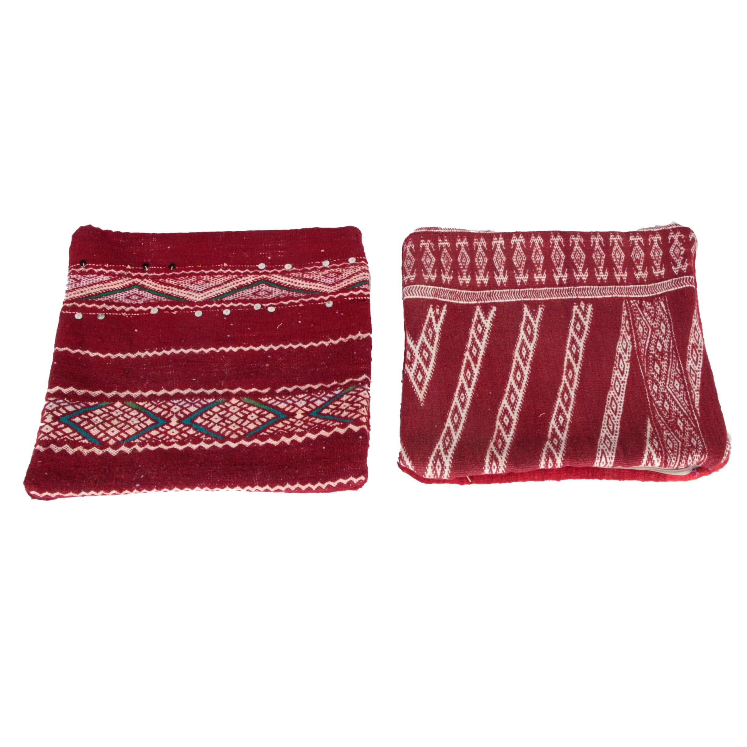 Hand Woven Central Asian Accent Pillow Cases
