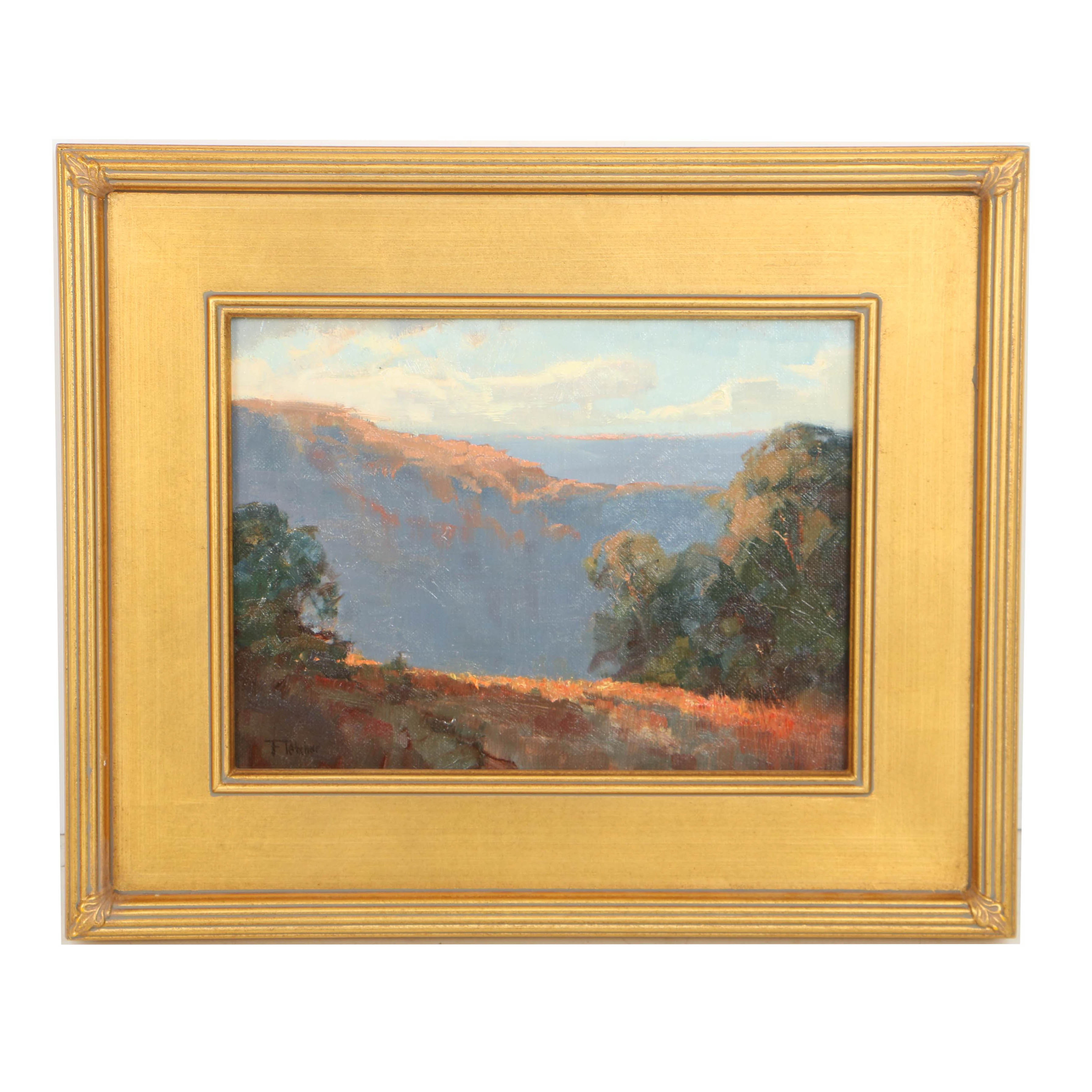 "Bill Fletcher Oil Painting on Canvas ""Palisades Highlands"""