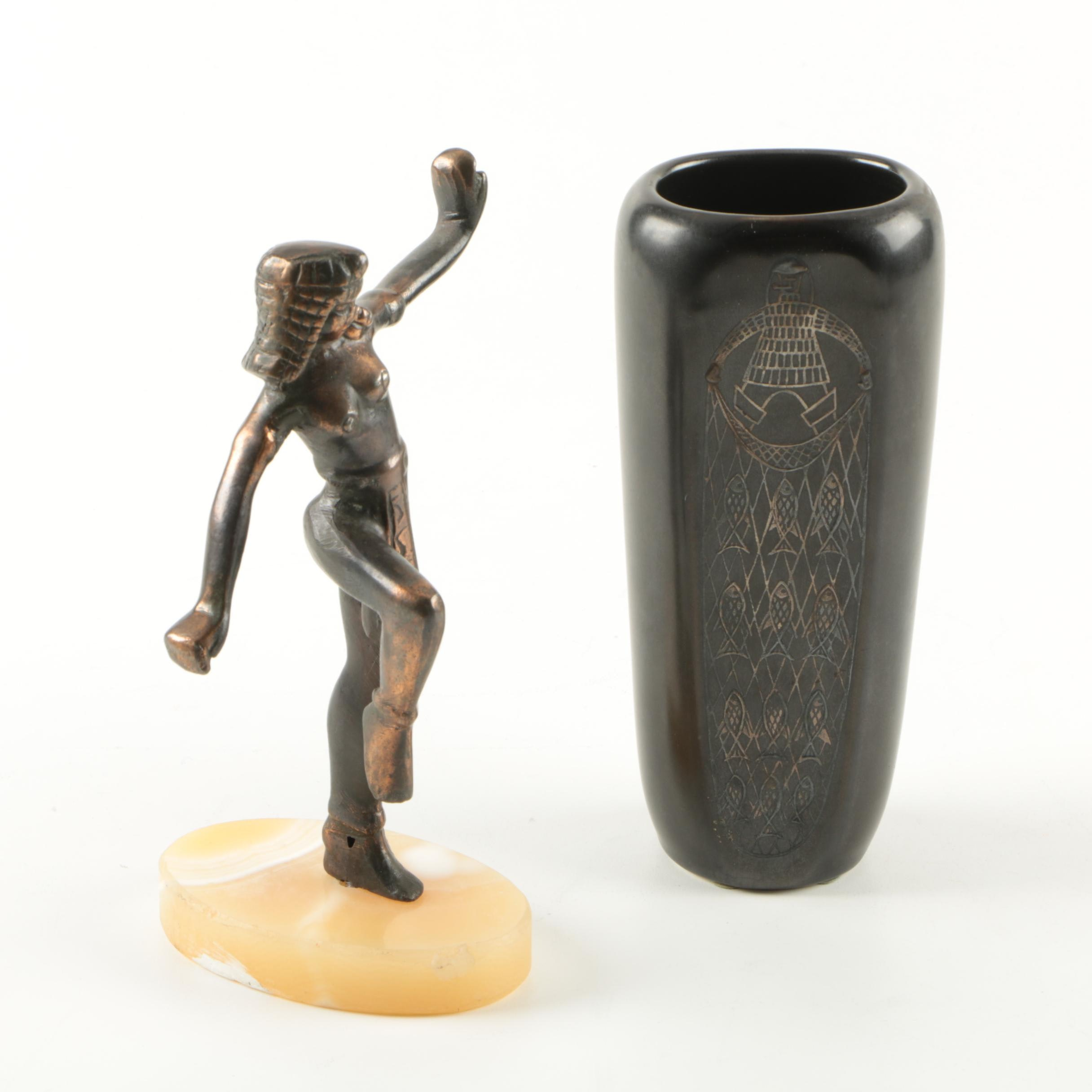 Sven Jonson for Gustavsberg Vase with Figurine
