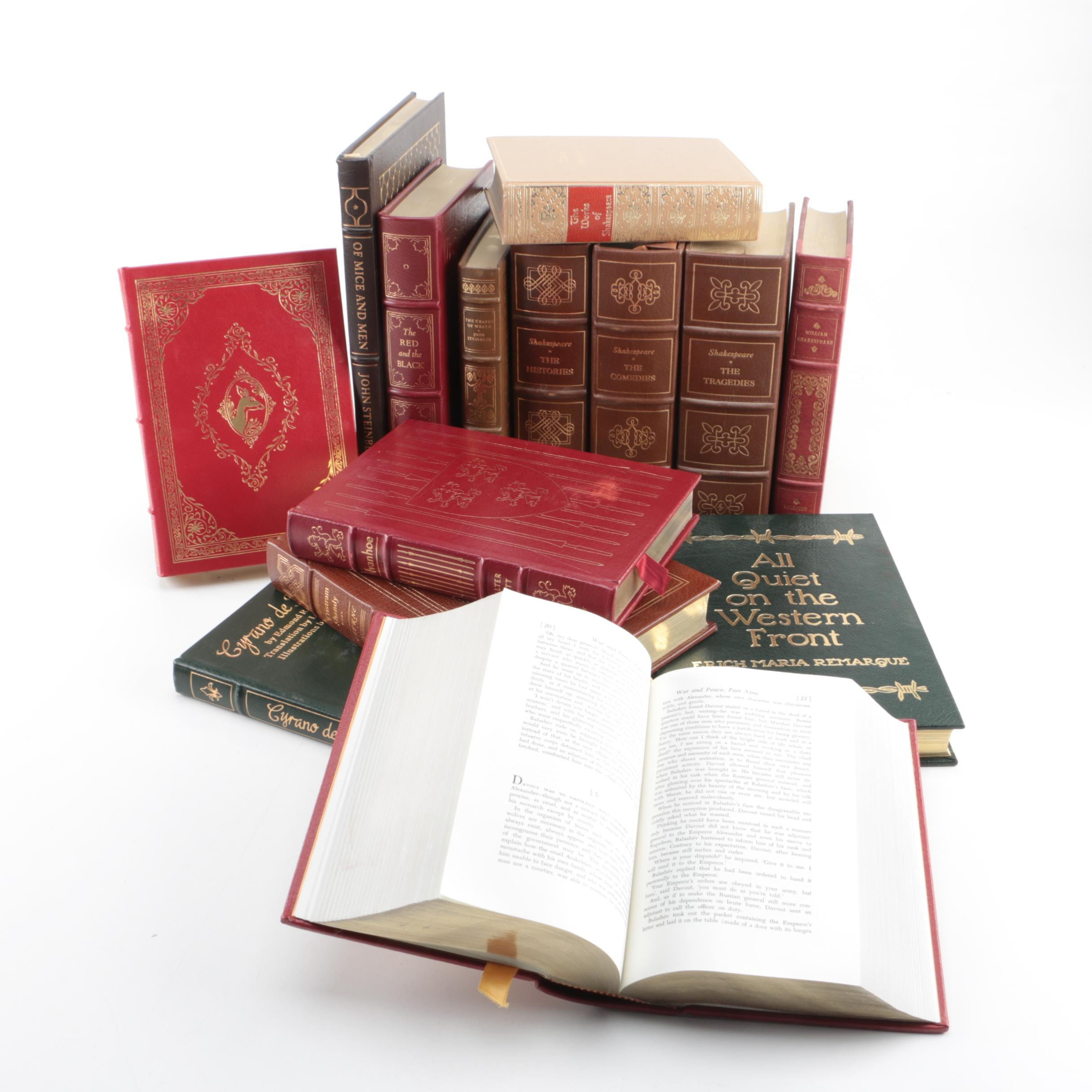 Assorted Leather Bound Collector's Editions Including Easton Press