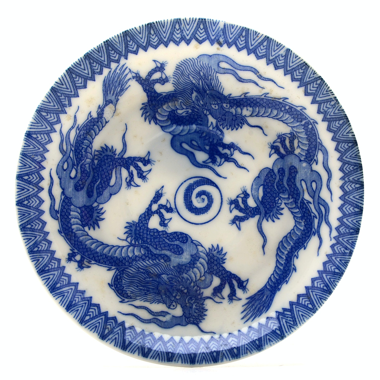 Qing Dynasty Blue and White Porcelain Dish