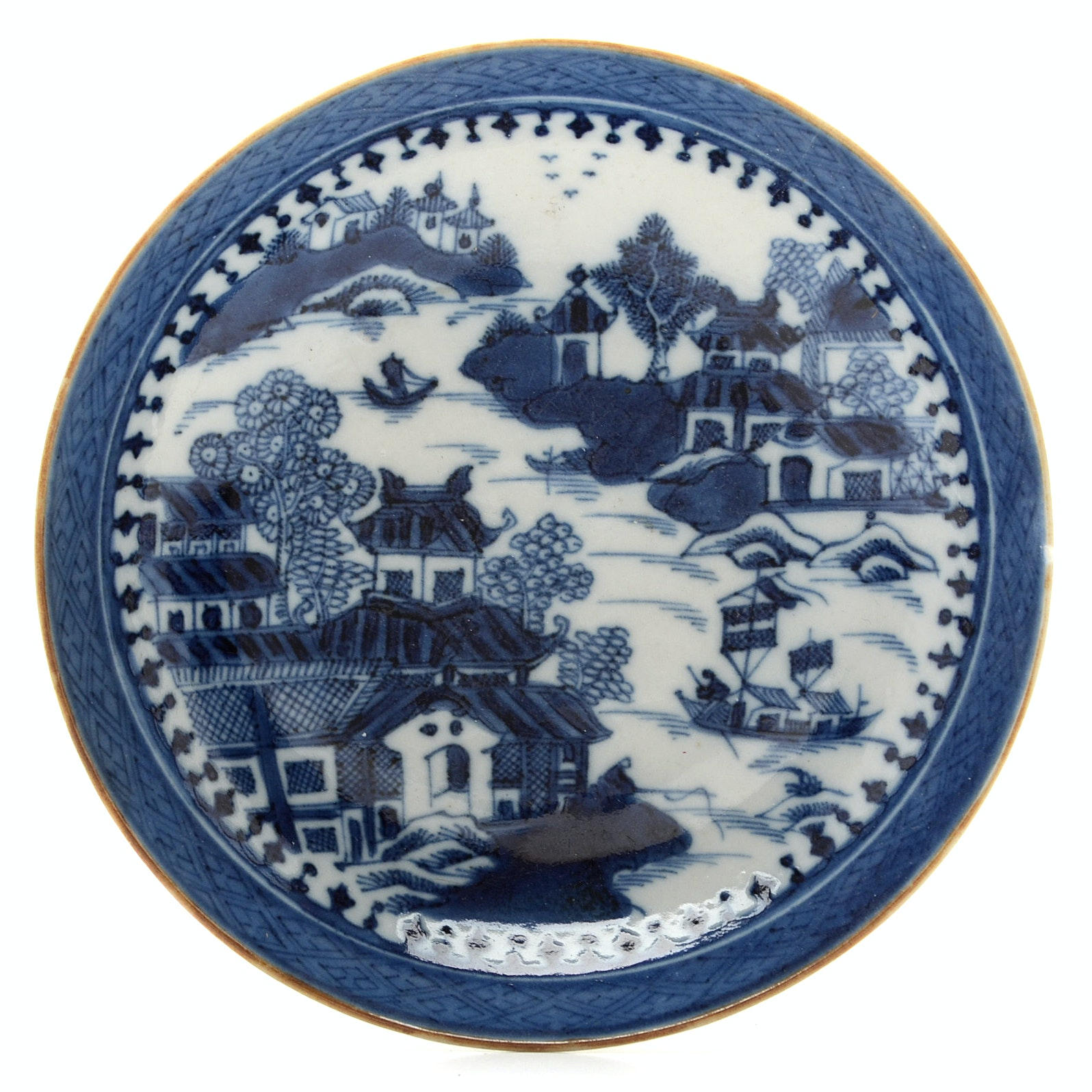 Qing Dynasty Small Blue and White Porcelain Dish