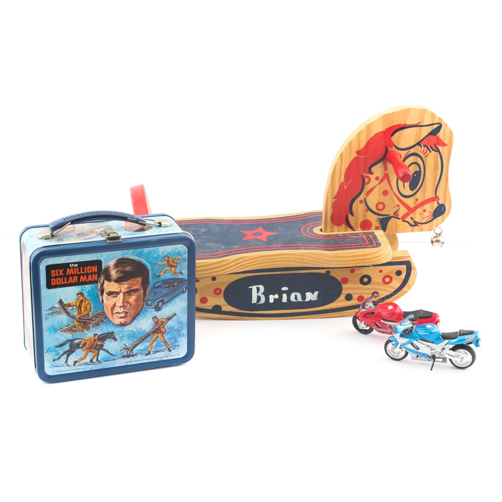 """Vintage Collectibles Featuring """"The Six Million Dollar Man"""" Lunchbox"""