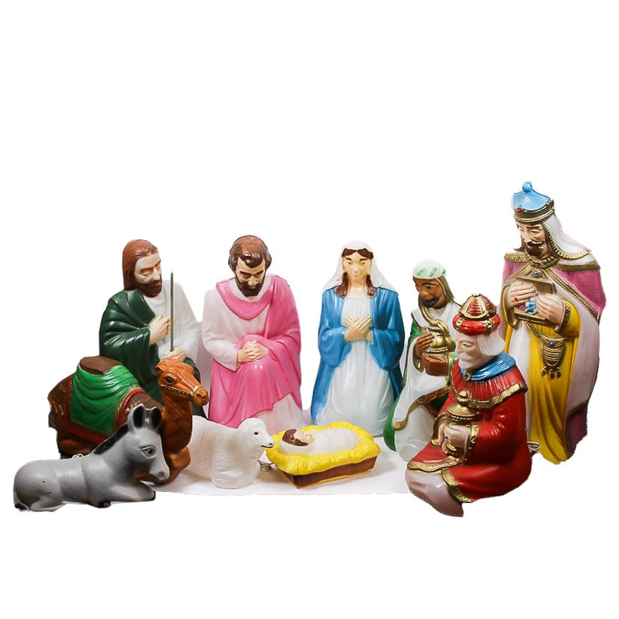 Outdoor Nativity Scenes That Light Up Large outdoor light up plastic nativity scene ebth large outdoor light up plastic nativity scene workwithnaturefo