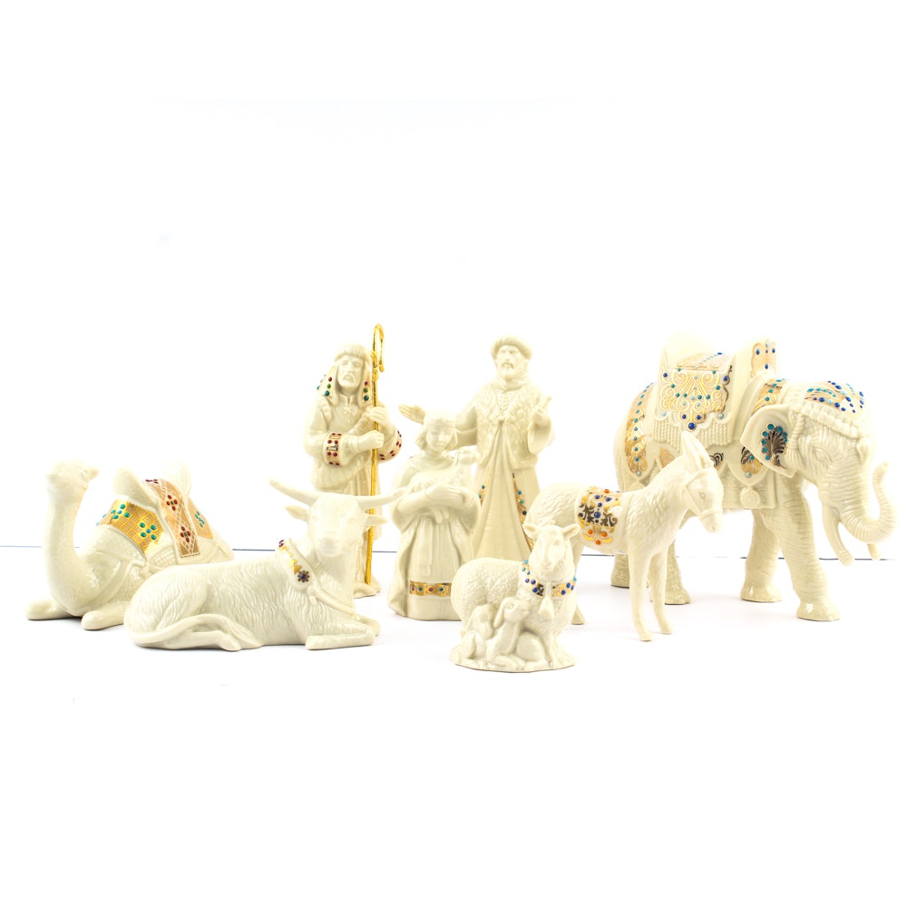 "Lenox ""China Jewels"" Nativity Figurines"