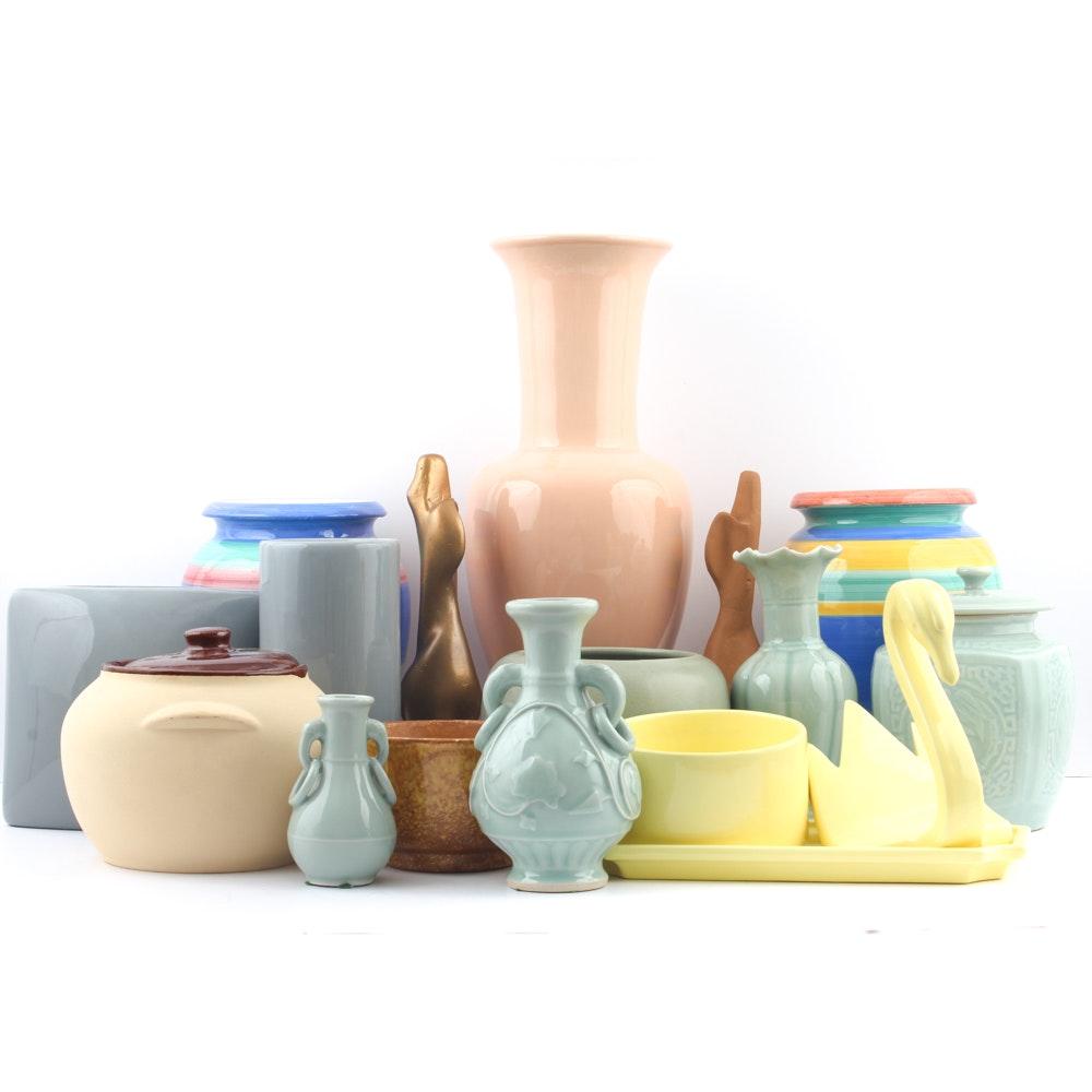 Art Pottery and Ceramic Decor Featuring Haegar