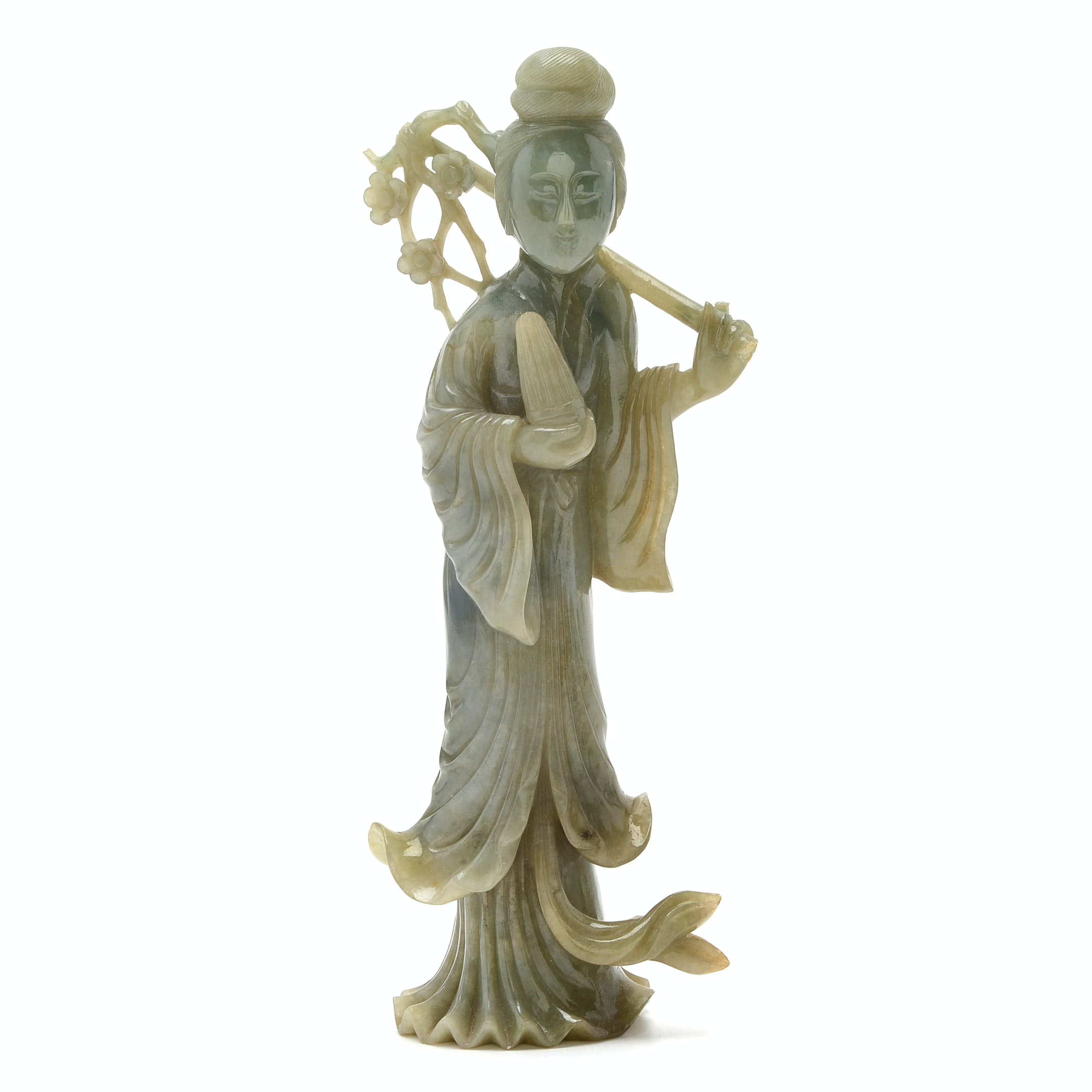 Chinese Carved Jadeite Guanyin