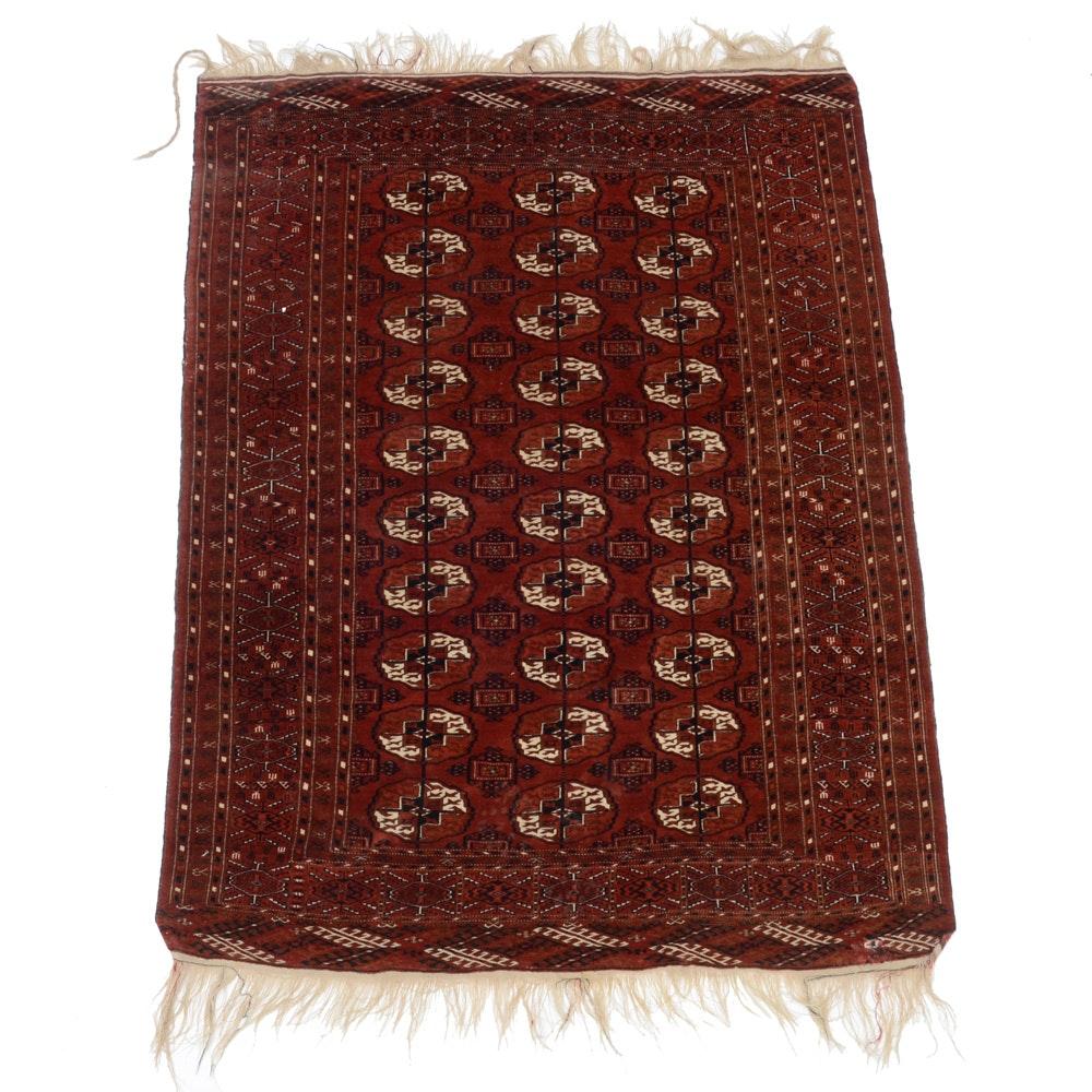 Hand-Knotted Wool Tekke Bokhara Area Rug