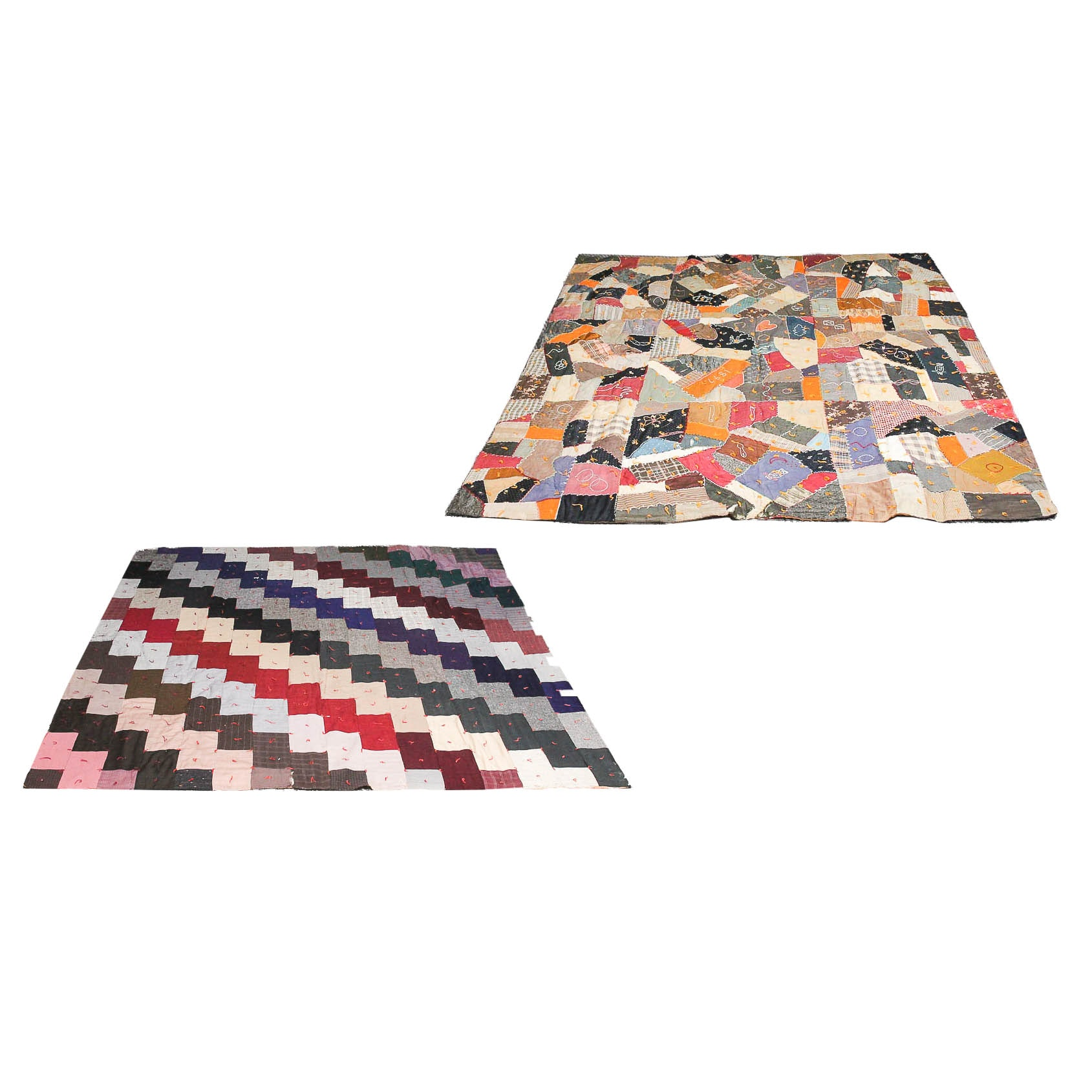 Two Vintage Patchwork Quilts