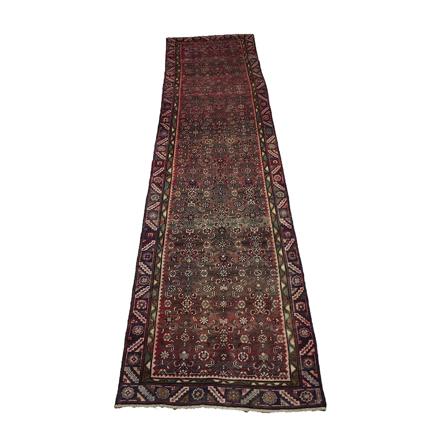 Hand Knotted Persian Wool Area Rug Ebth: Hand-Knotted Persian Lilihan Wool Carpet Runner : EBTH