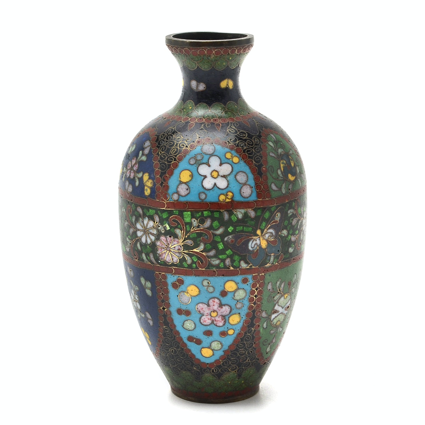 Takahara Komakichi Japanese Cloisonné Vase